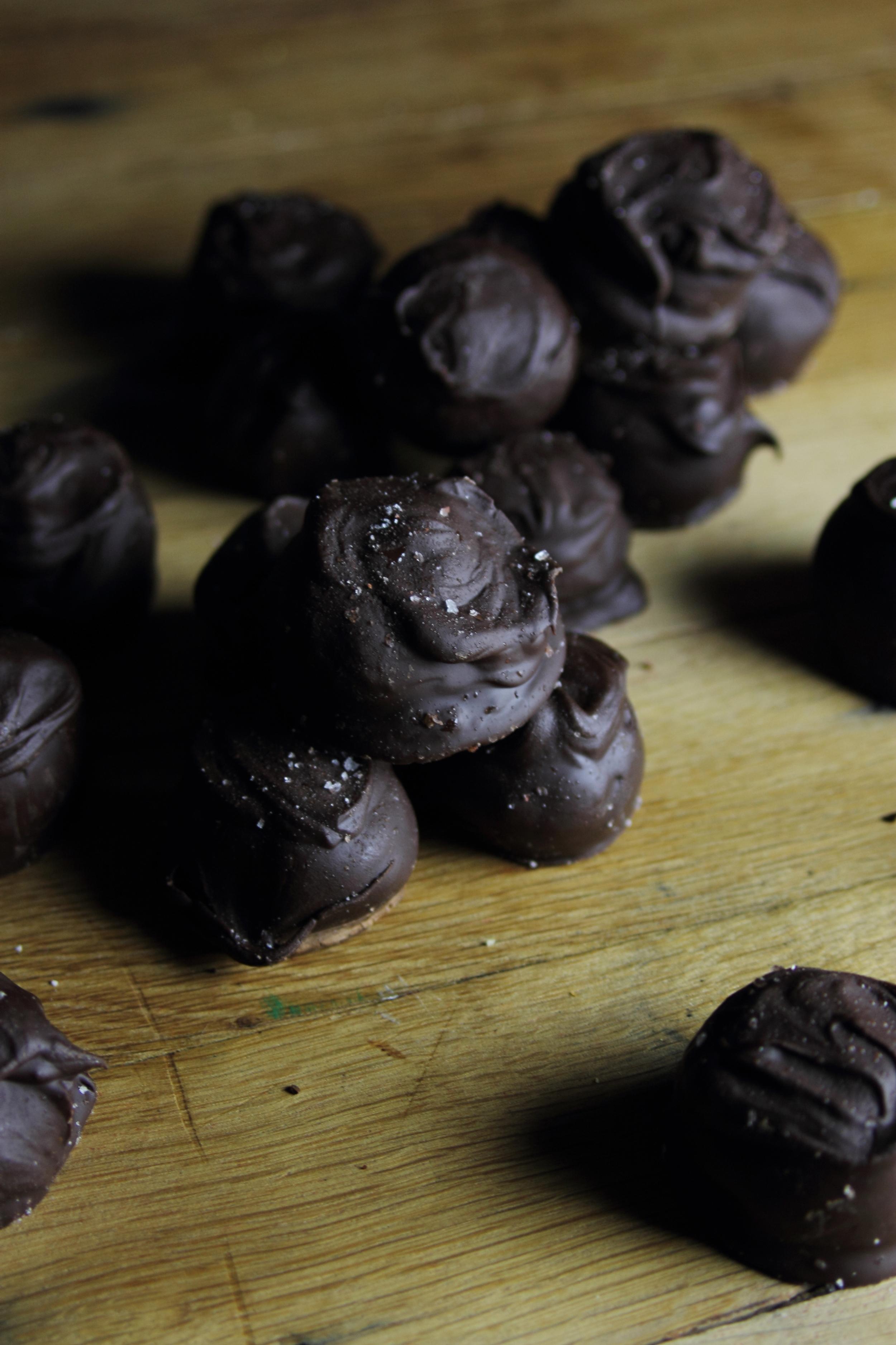 Smoked Oak Chocolate Bourbon Balls: My Diary of Us