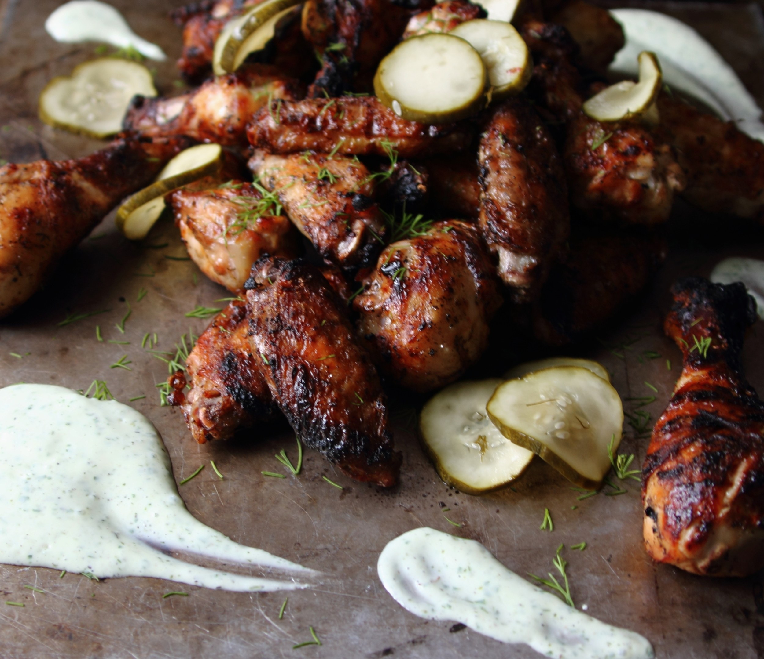 Grilled Pickle Chicken Wings with Greek Yogurt Ranch: My Diary of Us