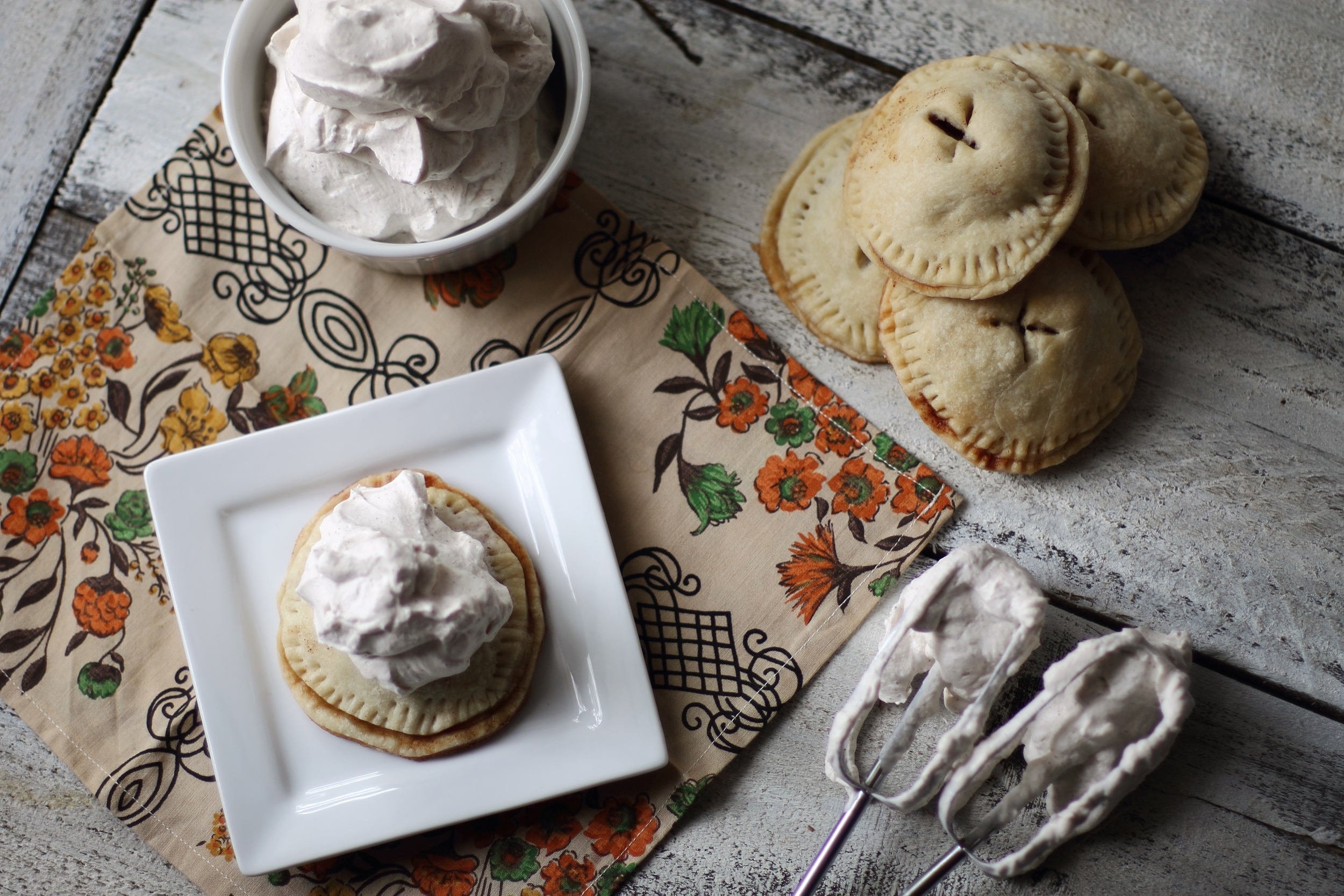 Mini Apple Pies with Spiced Whip Cream: My Diary of Us