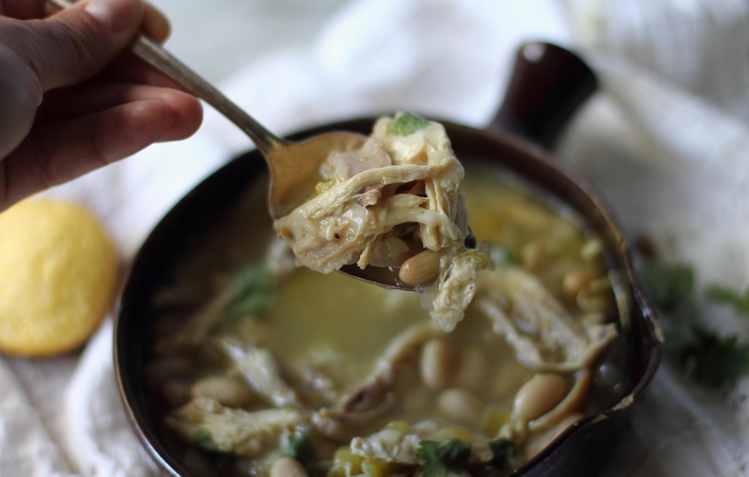 Healthy White Bean Chicken Chili: My Diary of Us