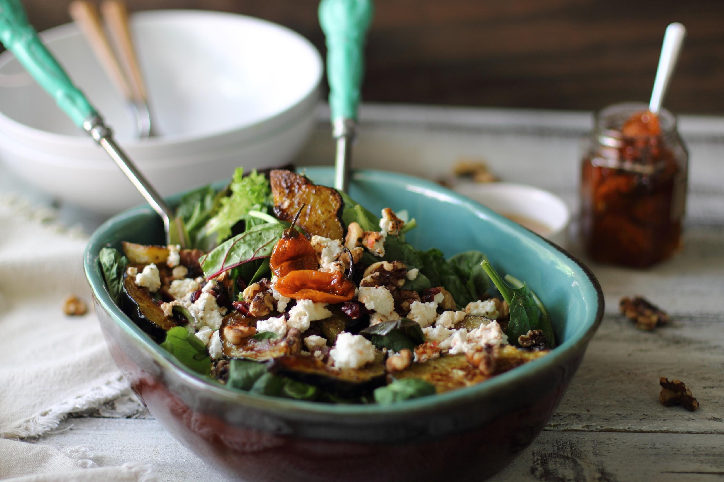 Spicy Honey Roasted Acorn Squash Salad: My Diary of Us