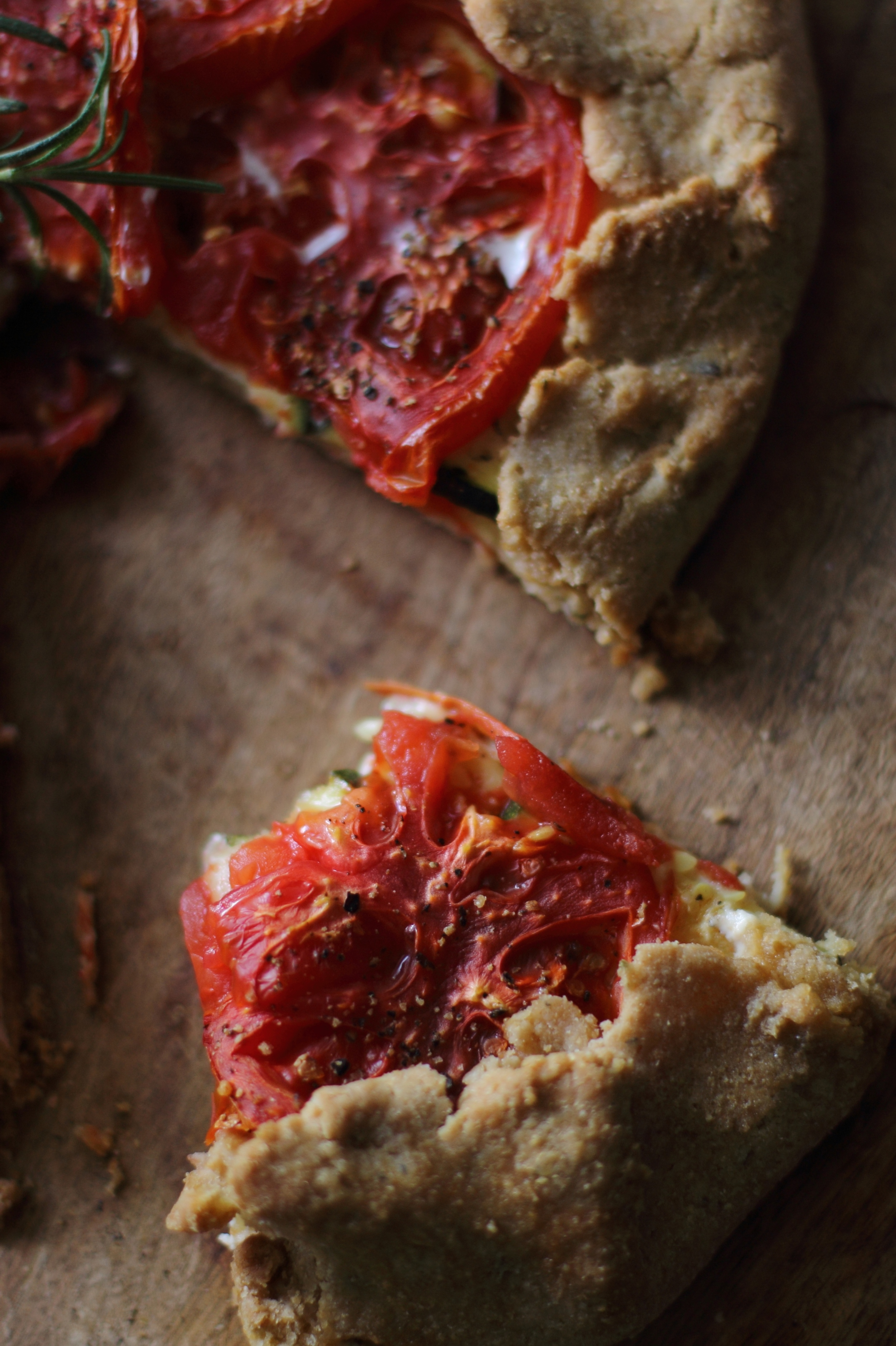 Whole Wheat Rosemary Crust Tomato Galette: My Diary of Us