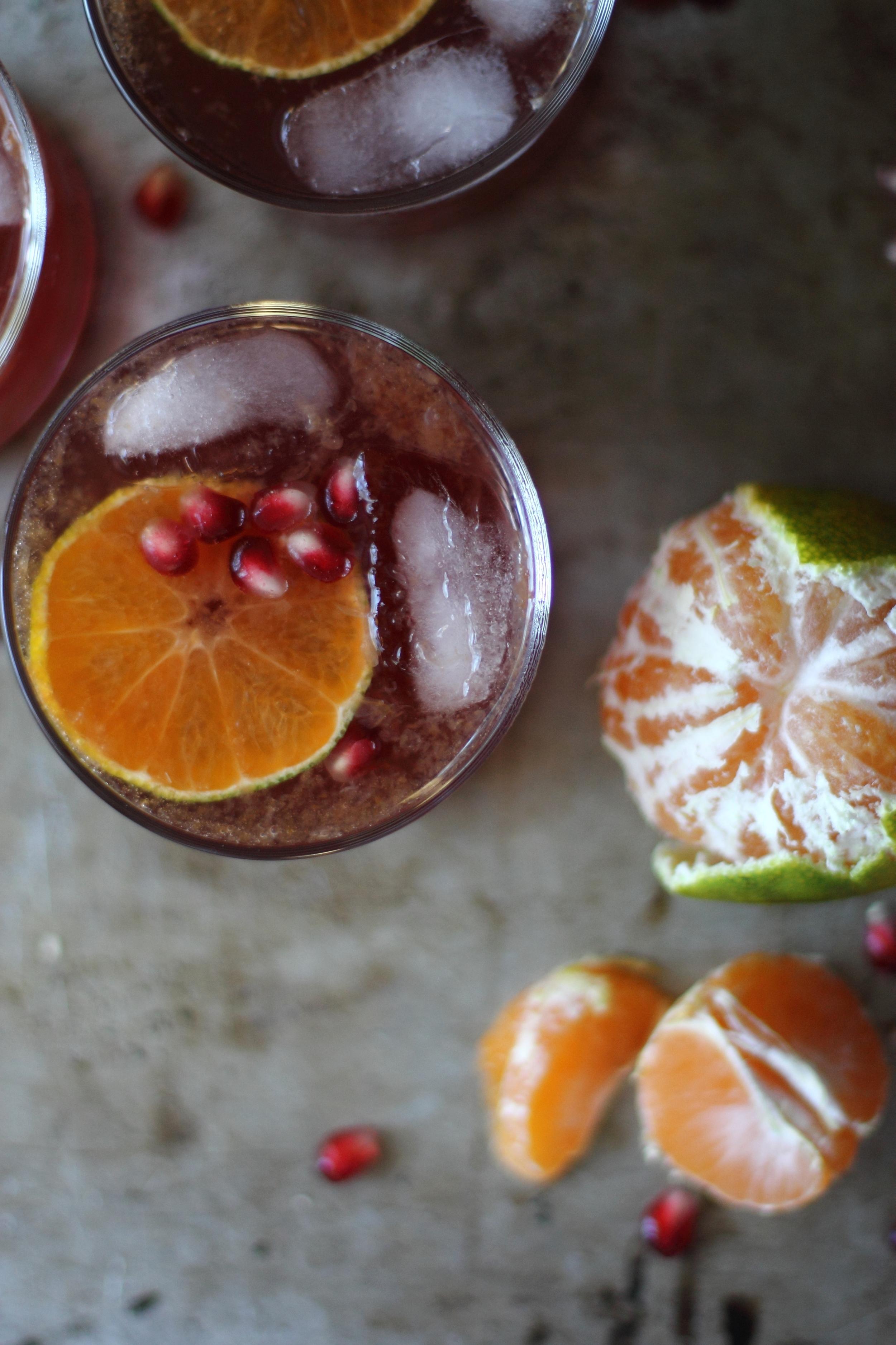 Pomegranate and Satsuma Gin Martini: My Diary of Us