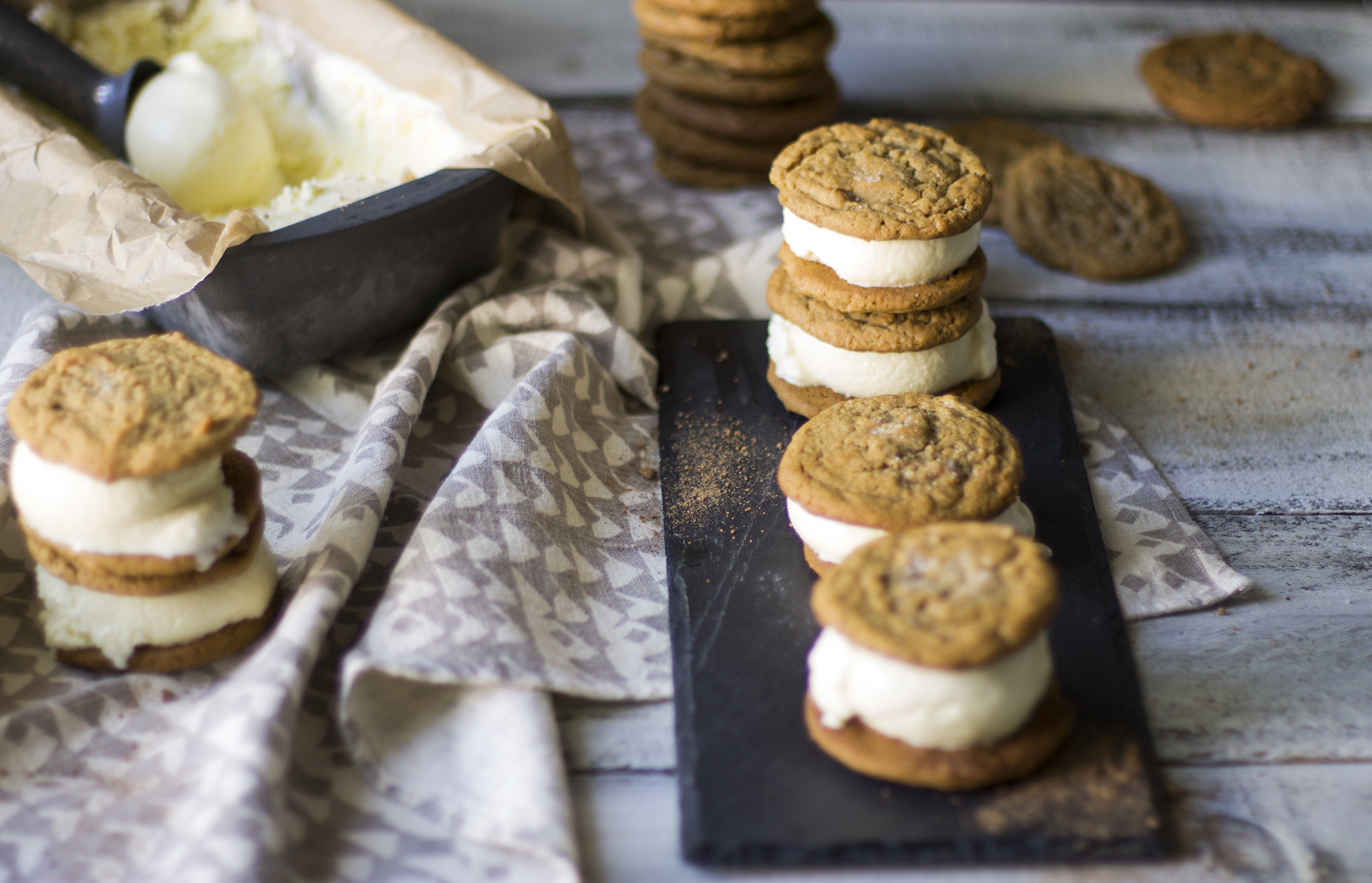 Boozy Egg Nog Ice Cream and Ginger Cookie Sandwiches: My Diary of Us