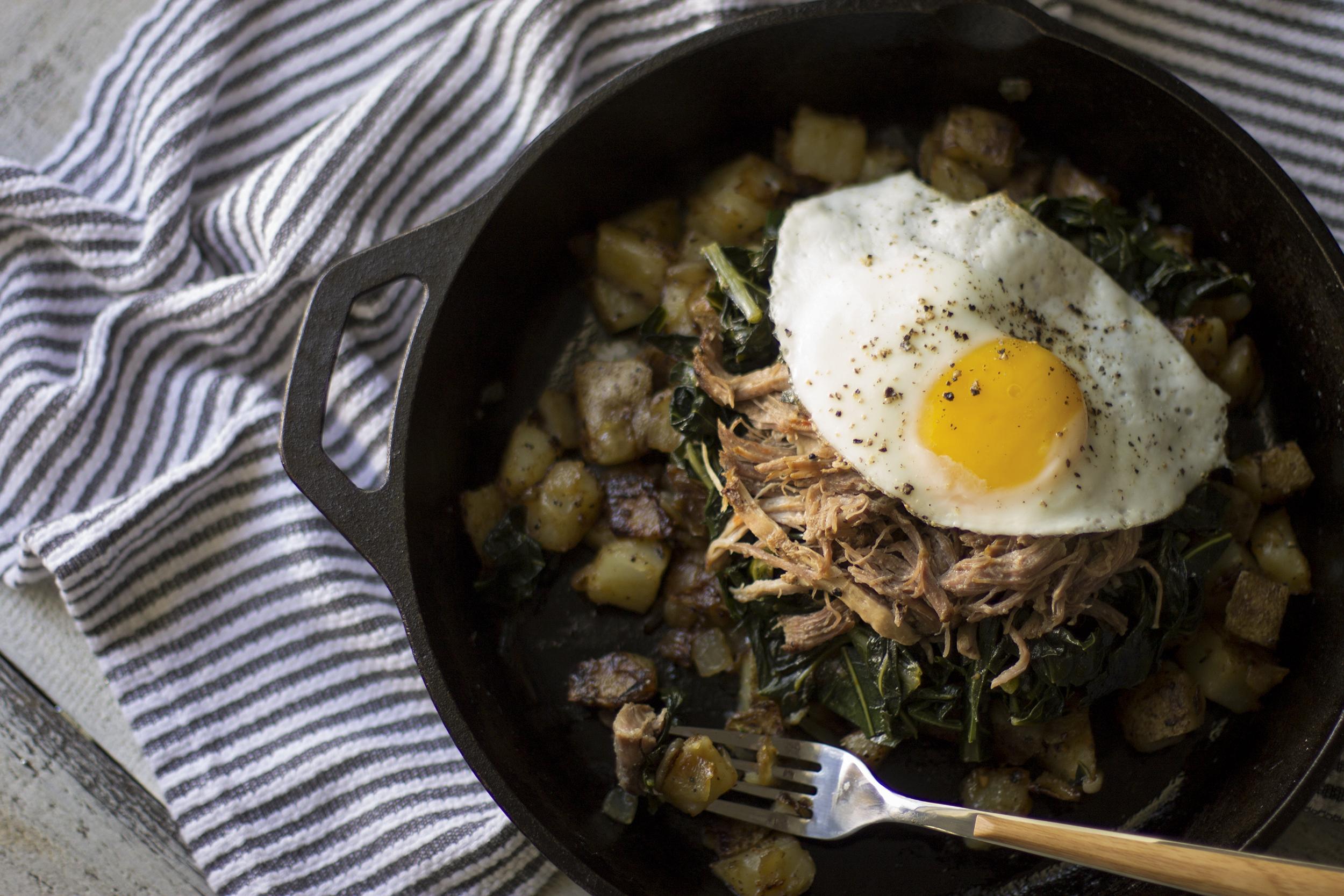 Farmer's Market Pork and Collard Green Hash: My Diary of Us