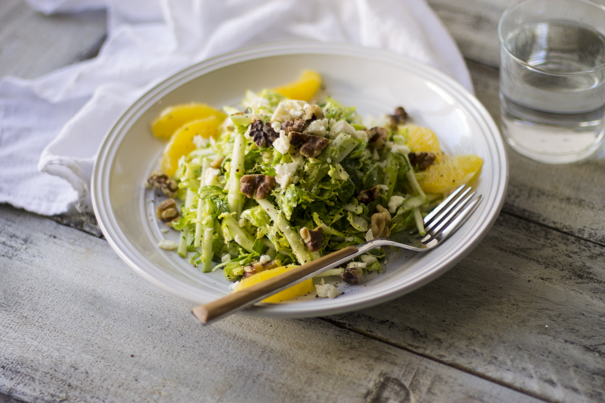 Citrus Shaved Brussel Sprout Salad with White Cheddar: My Diary of Us