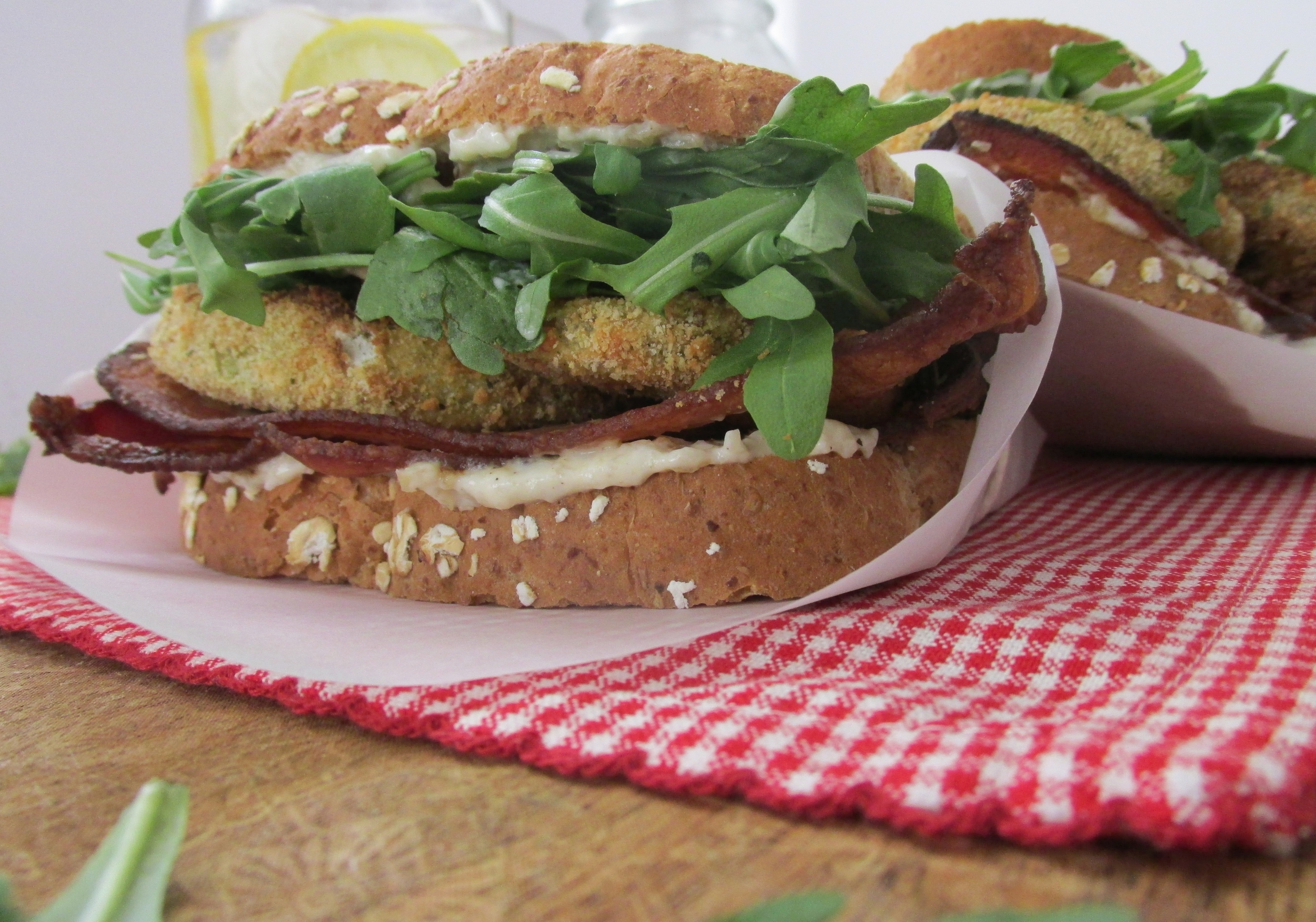 BLT's with Oven Fried Green Tomatoes: My Diary of Us