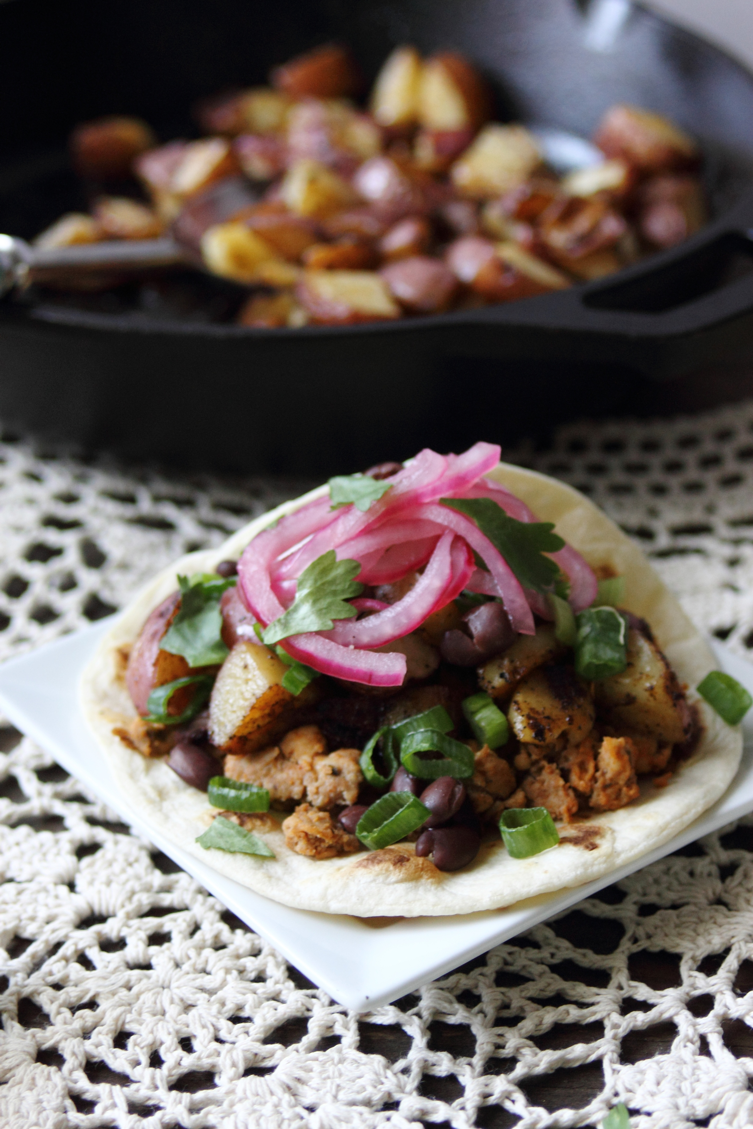 Chipotle Turkey and Spiced Potato Tacos: My Diary of Us