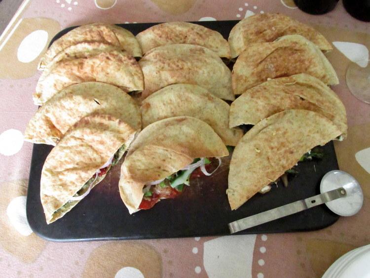 Whole Wheat Pita Calzones: My Diary of Us