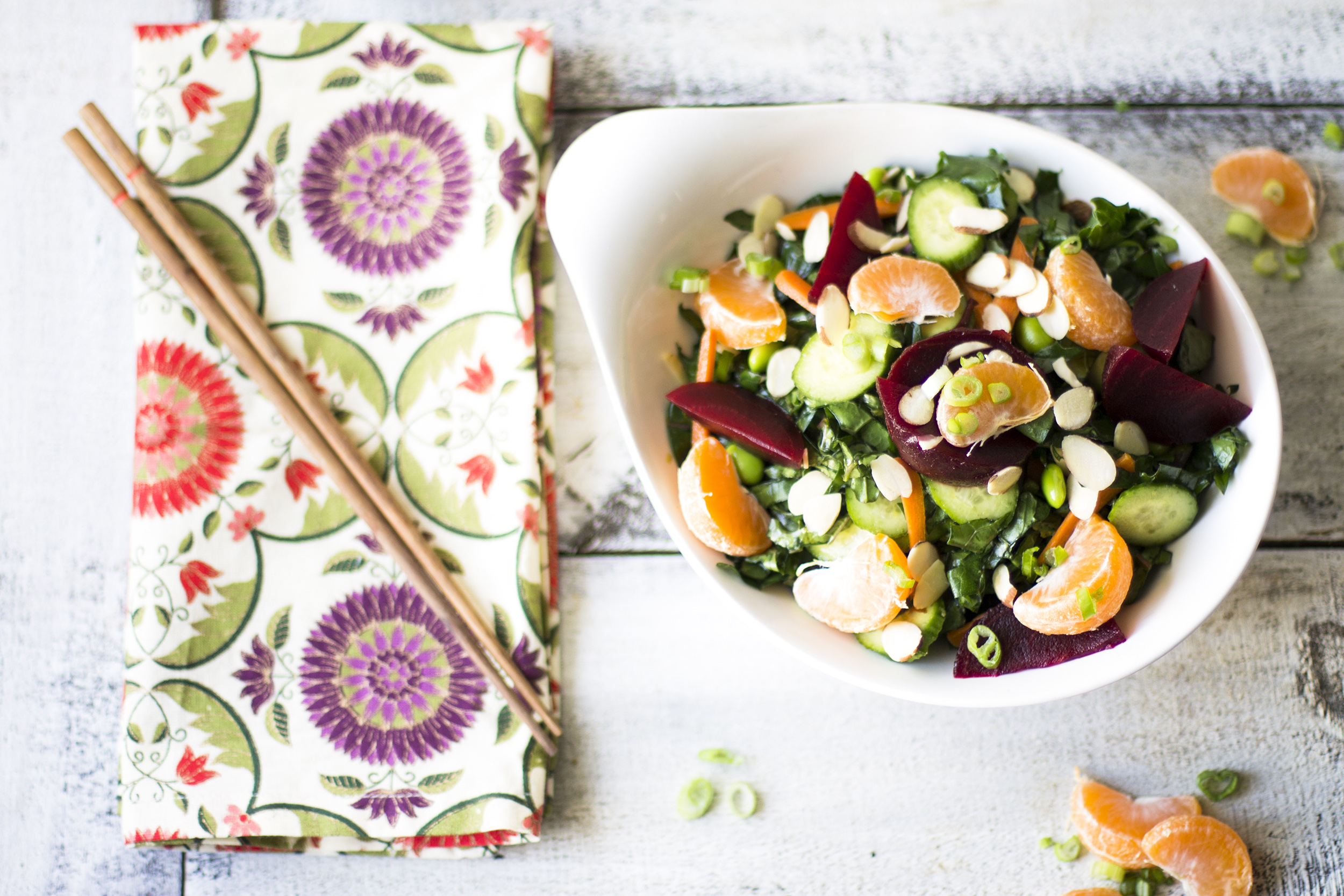 Winter Asian Kale Salad: My Diary of Us