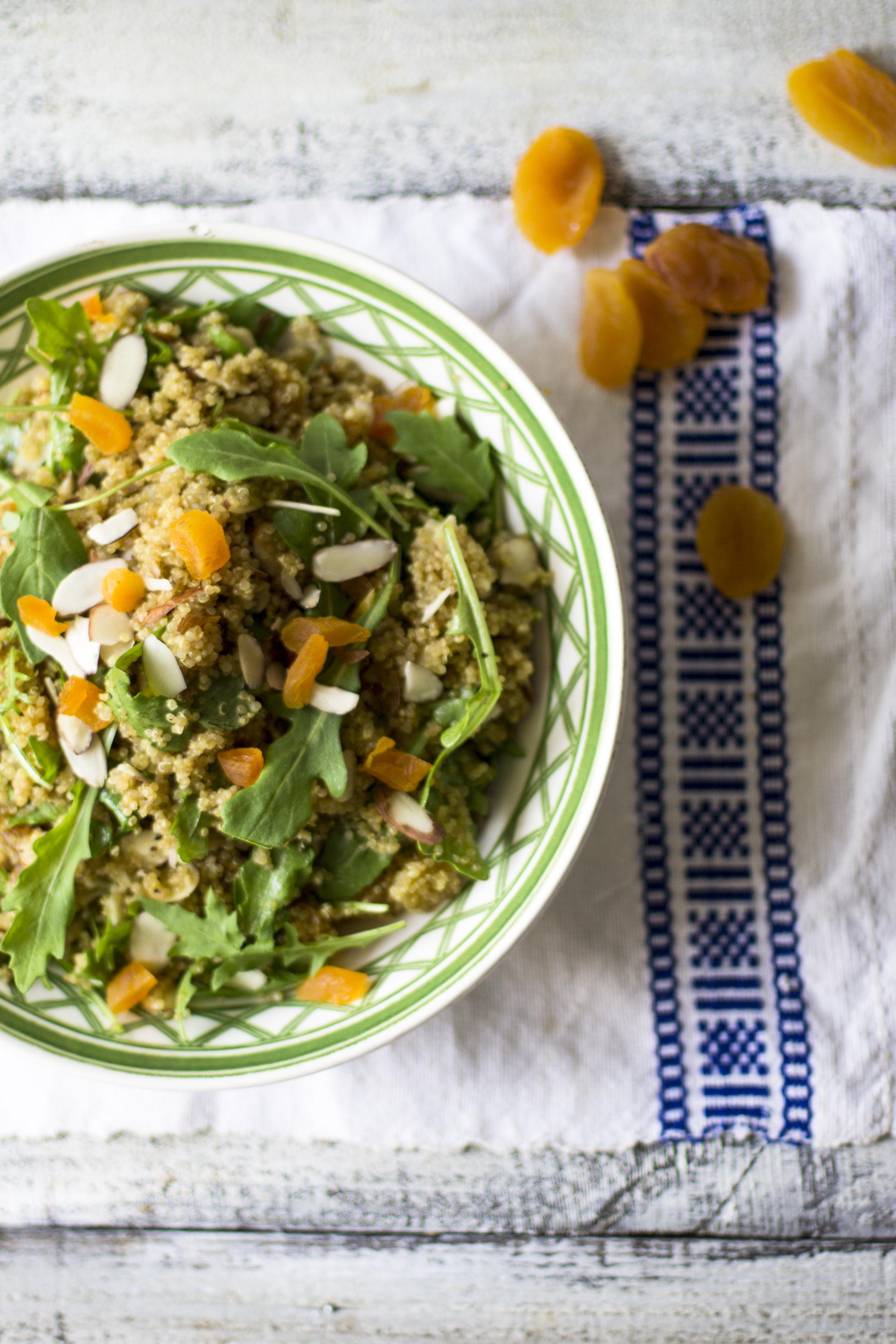 Apricot, Arugula, and Quinoa Salad with a Cumin Vinaigrette: My Diary of Us