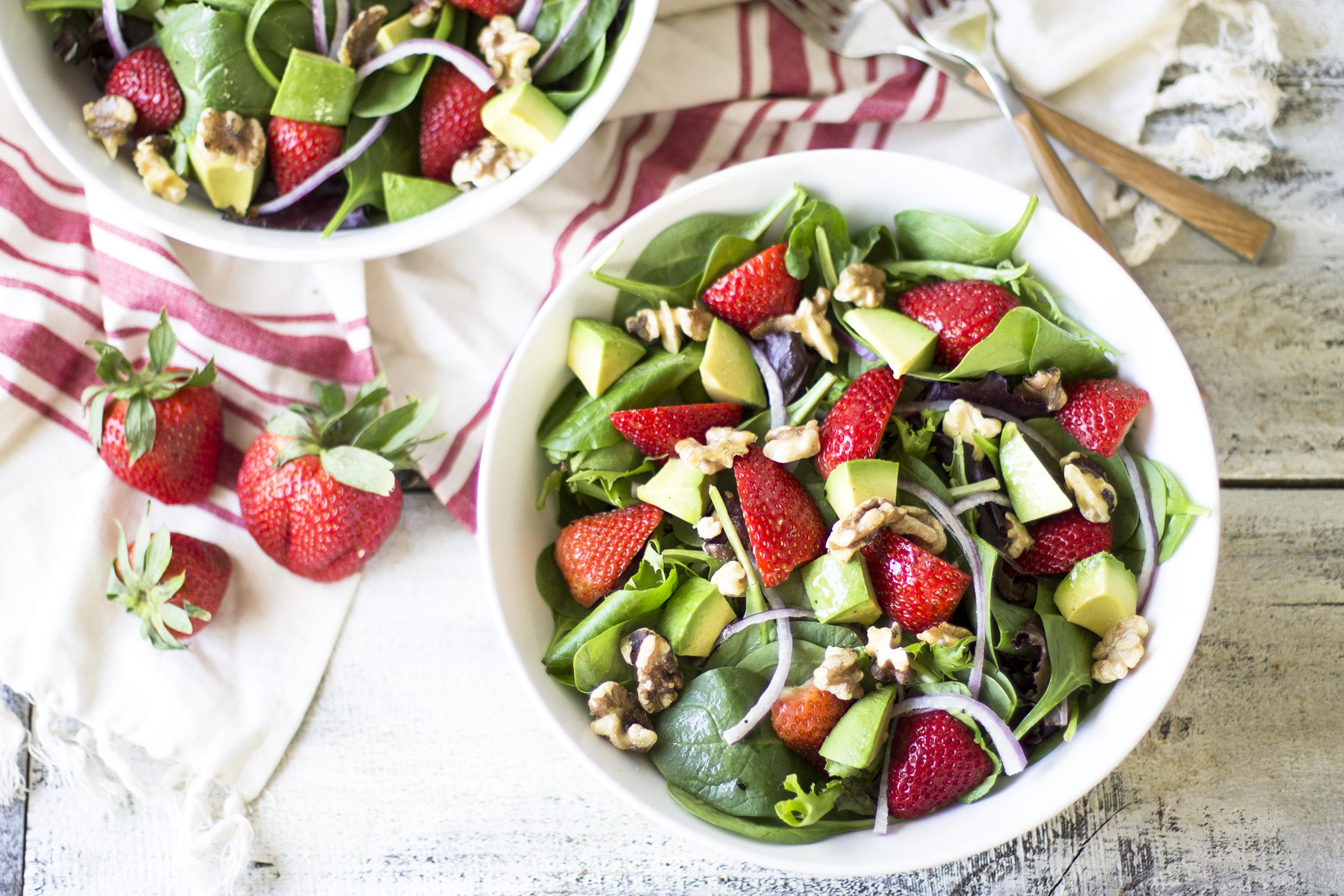Strawberry, Avocado, and Walnut Salad: My Diary of Us