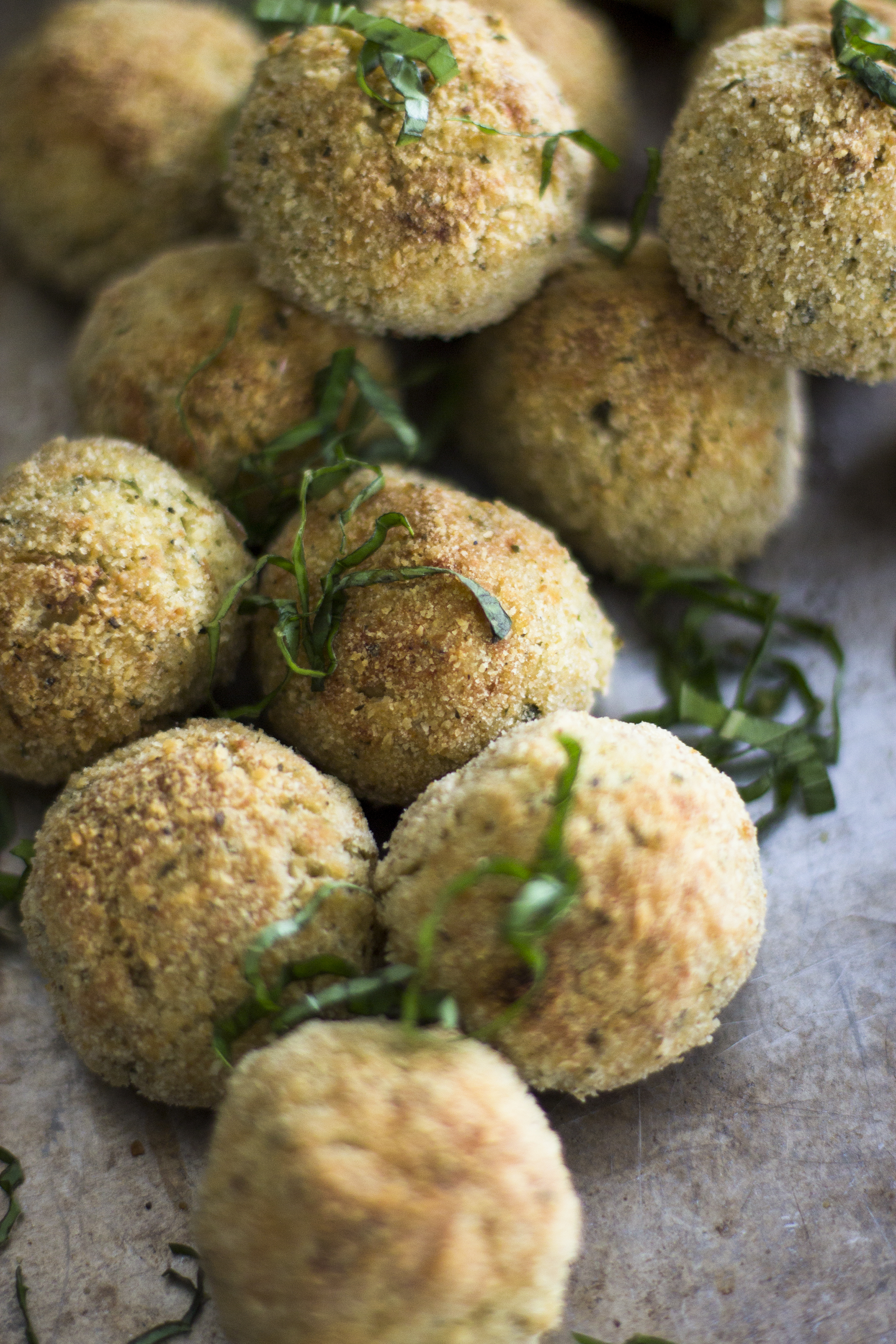 Baked Pesto Risotto Balls: My Diary of Us