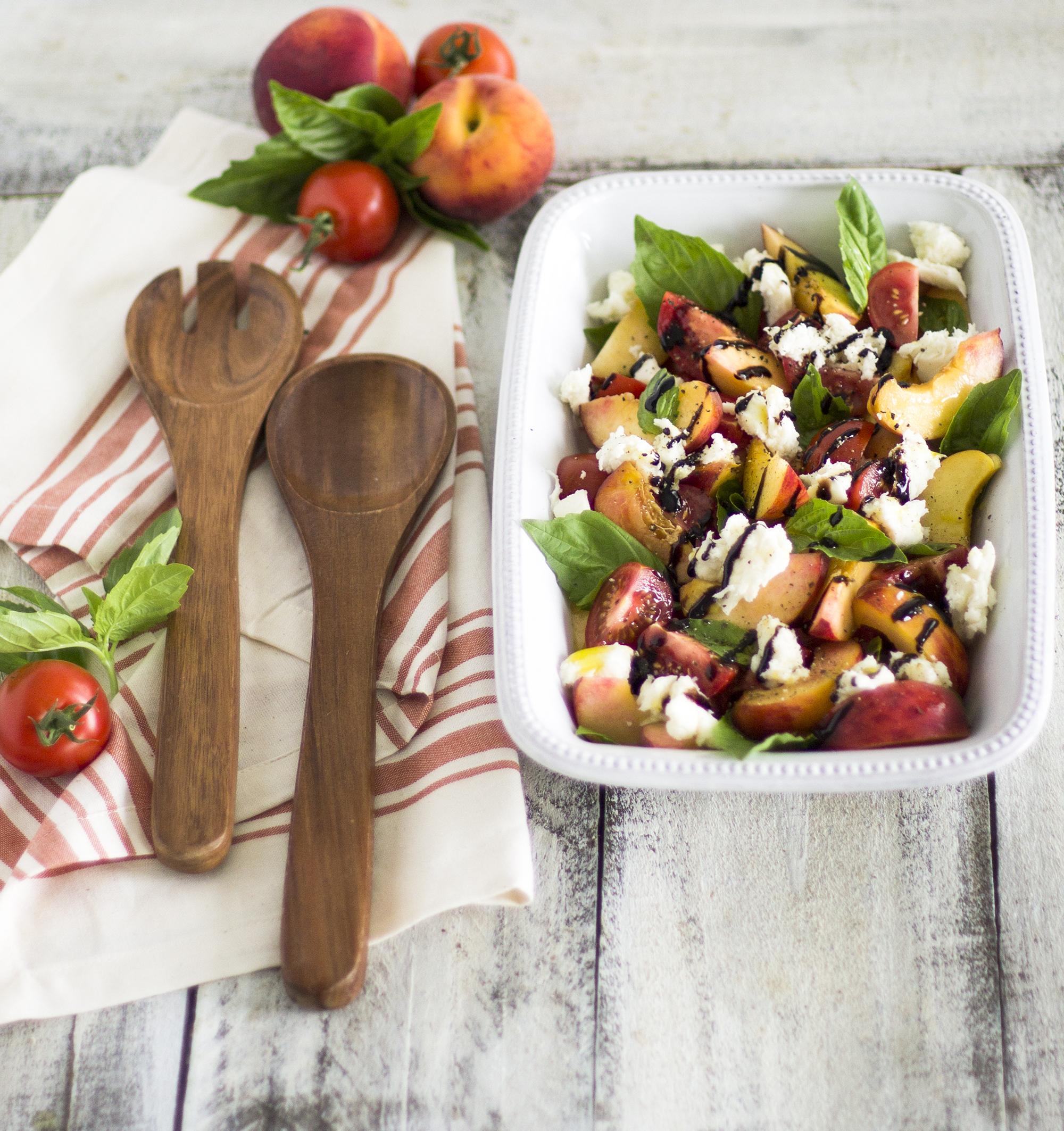 Peach Caprese Salad: My Diary of Us