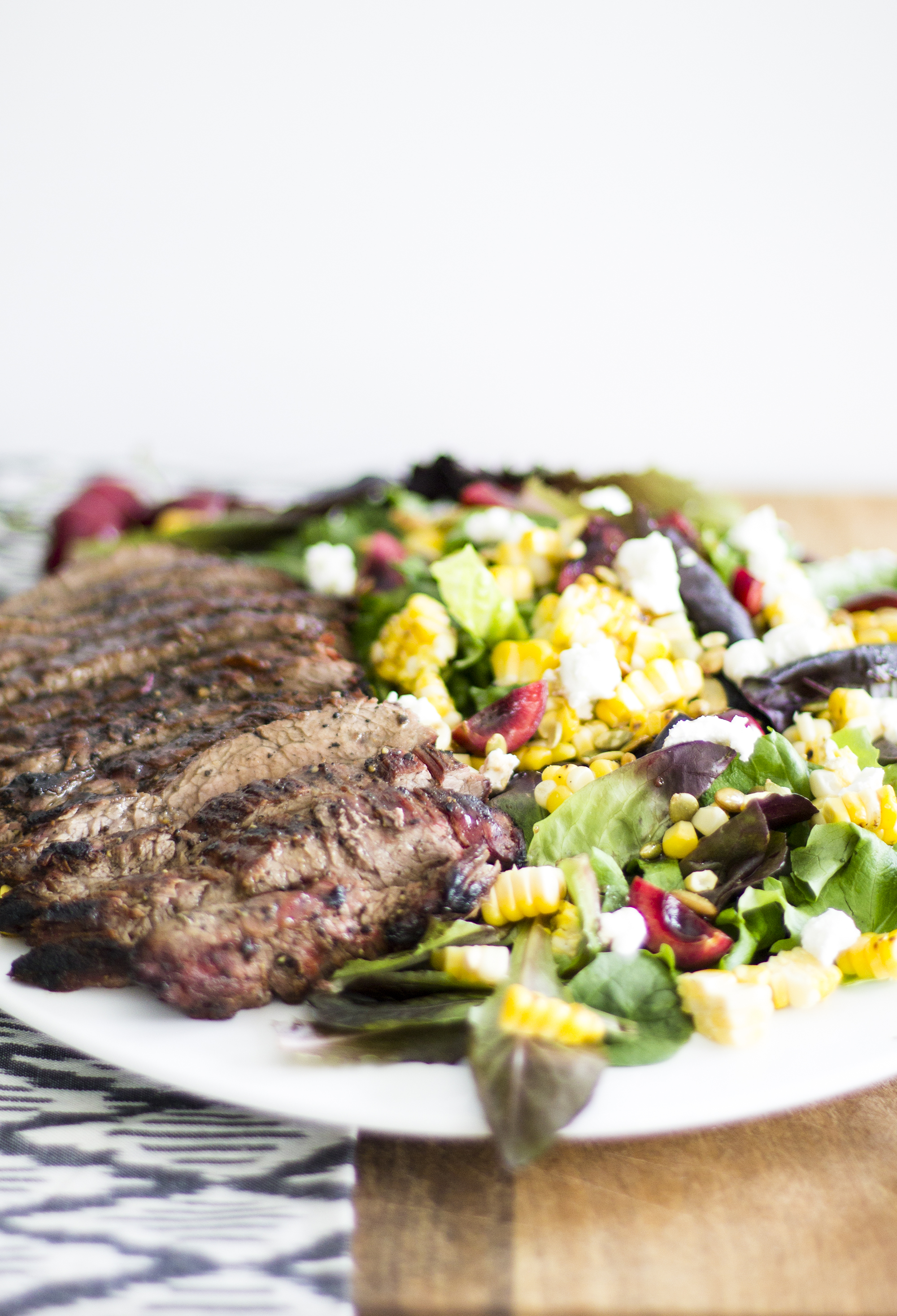 Grilled Flank Steak and Cherry Salad: My Diary of Us