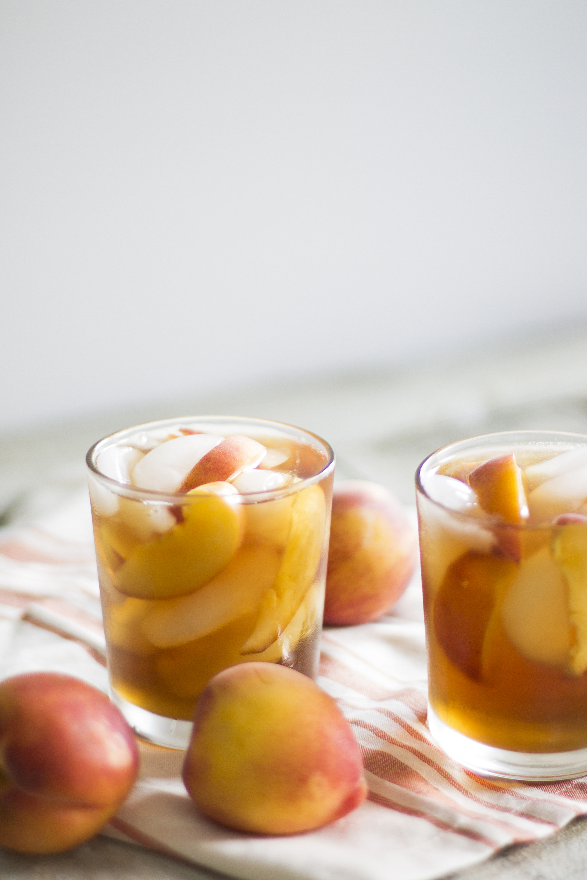Peach Sweet Iced Tea with Bourbon: My Diary of Us