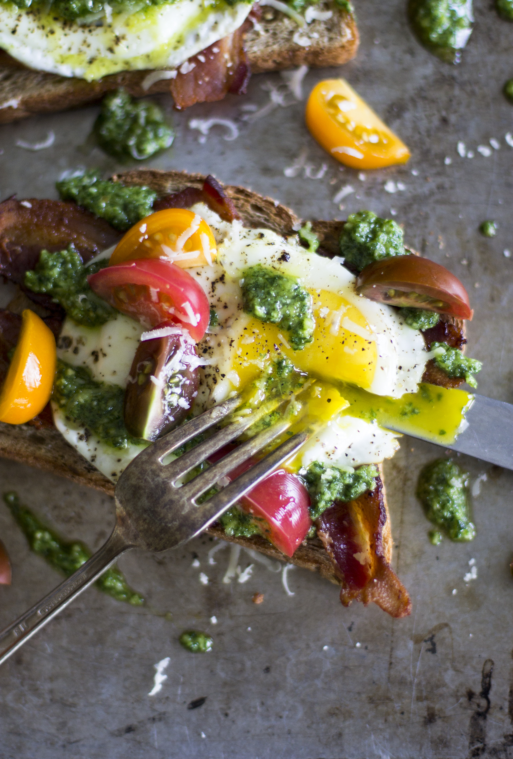 Open-Faced Egg Sandwich with Arugula Pesto: My Diary of Us
