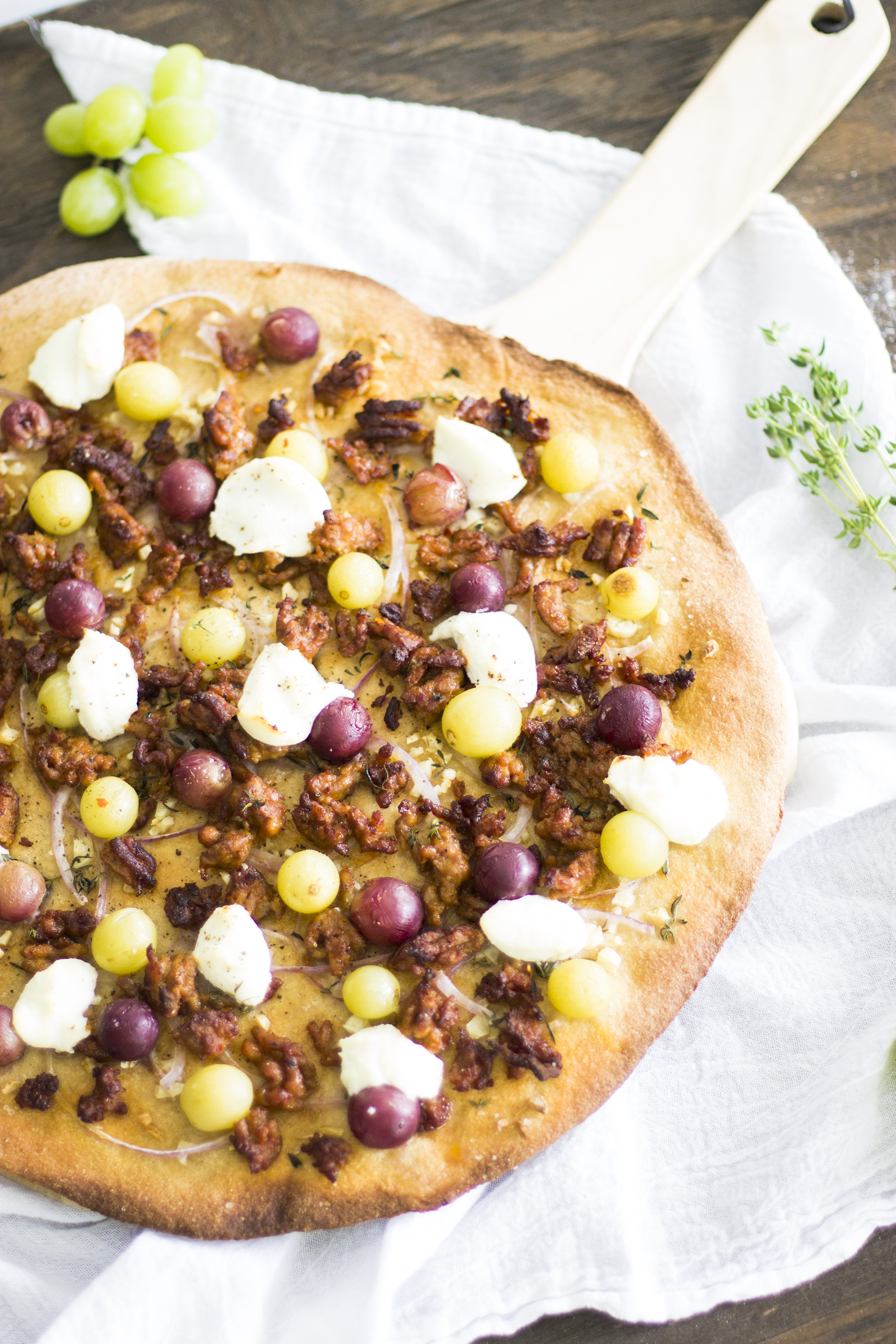 Whole Wheat Sausage, Grape, and Ricotta Pizza: My Diary of Us