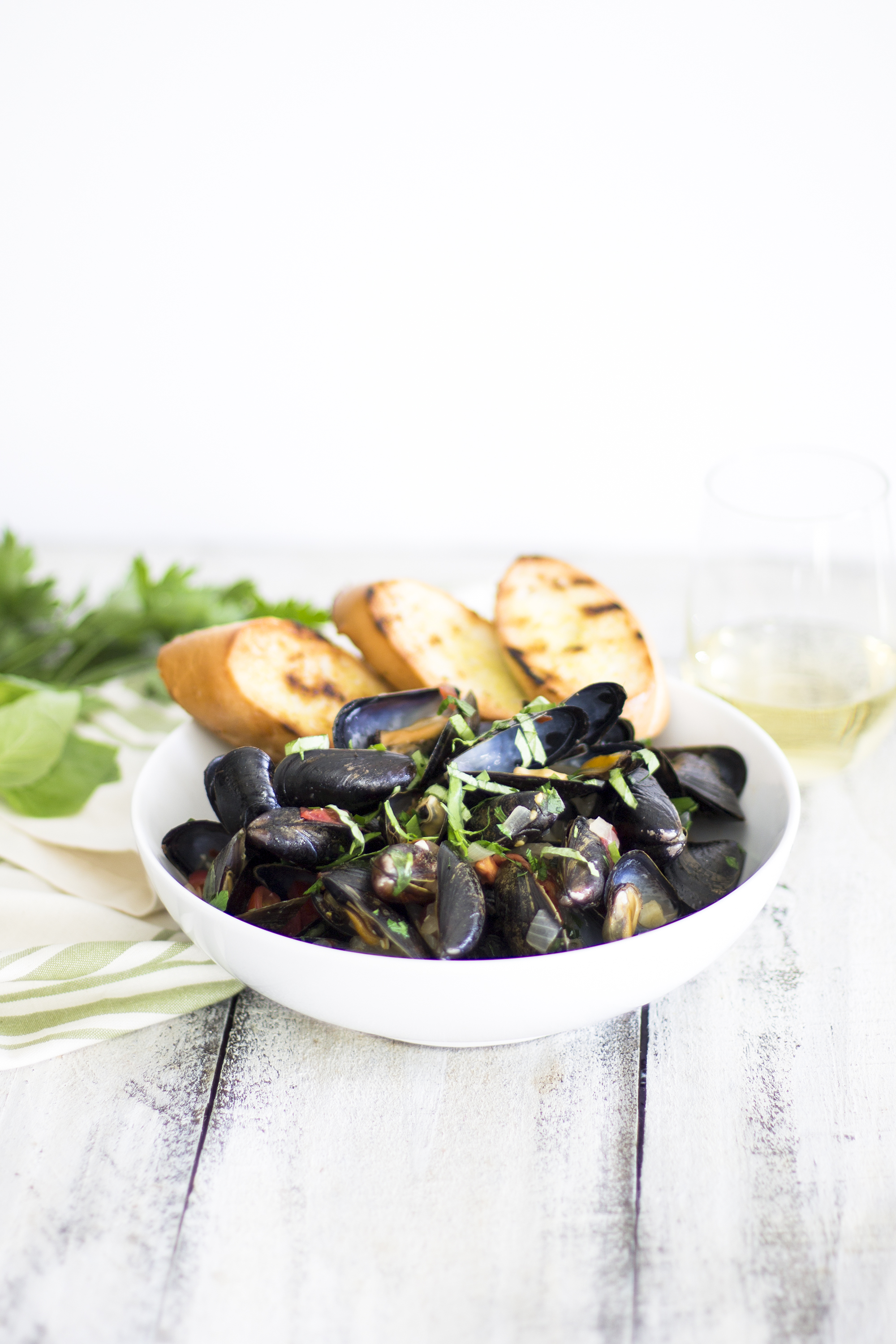 Garlic and Herb Mussels: My Diary of Us