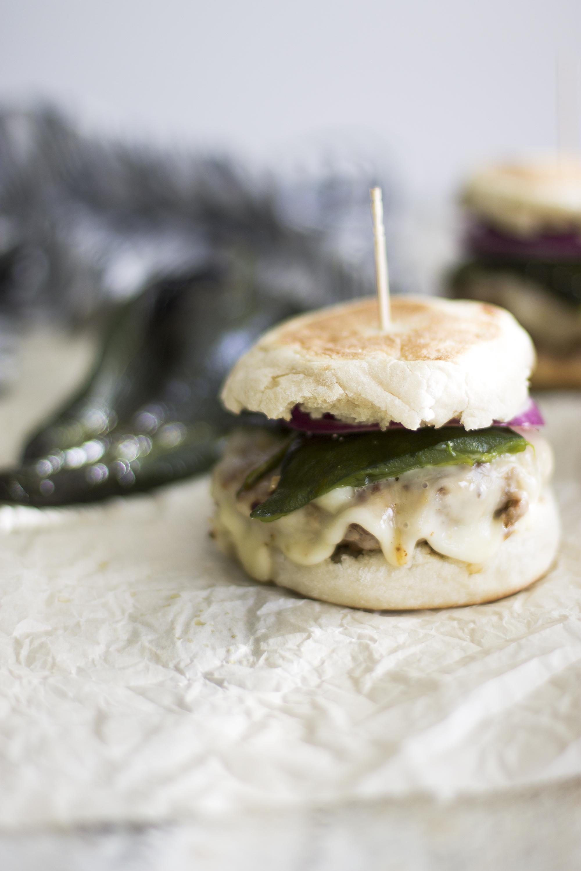 Roasted Poblano Pork Burgers: My Diary of Us