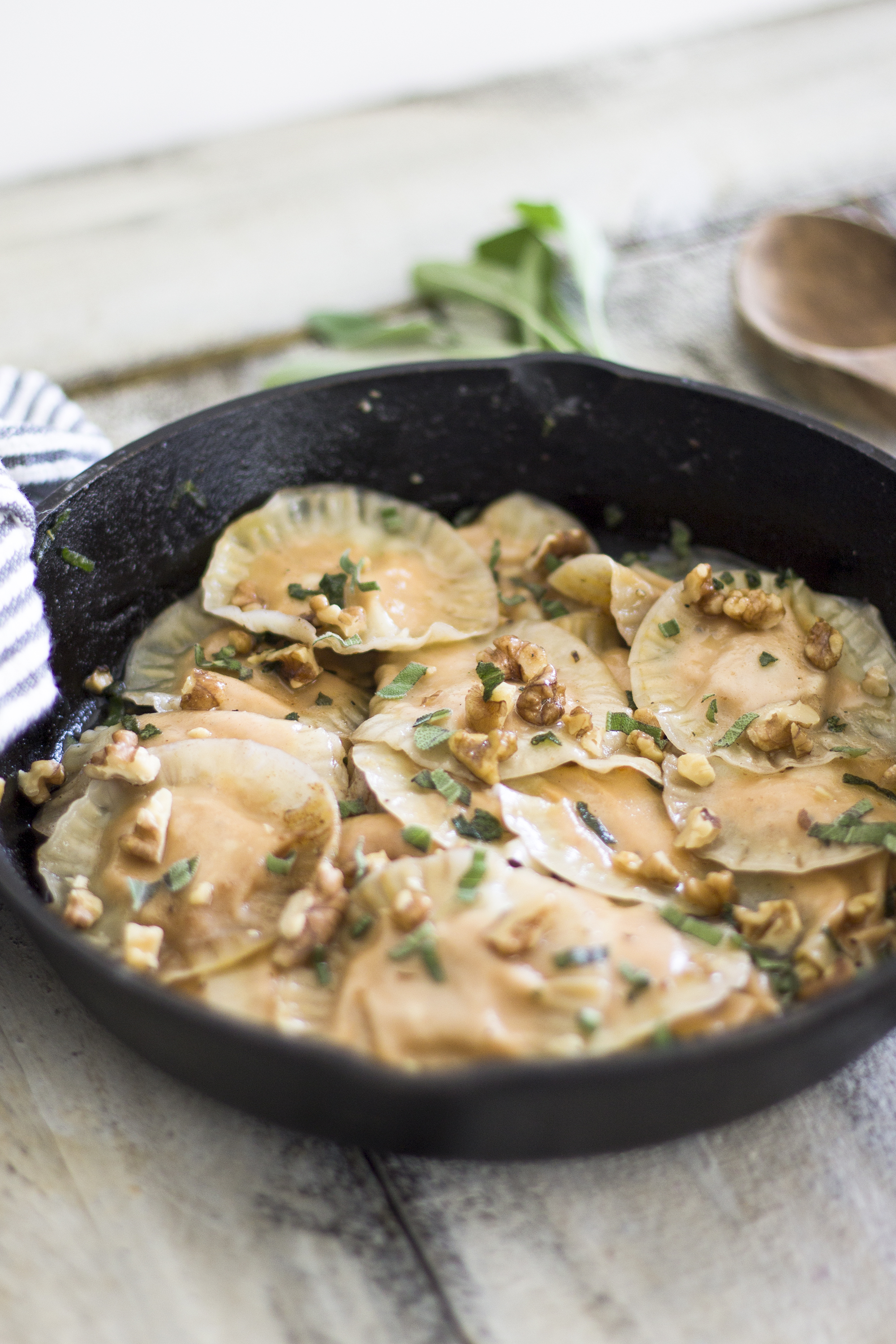 Brown Butter and Sage Ravioli with Walnuts: My Diary of Us