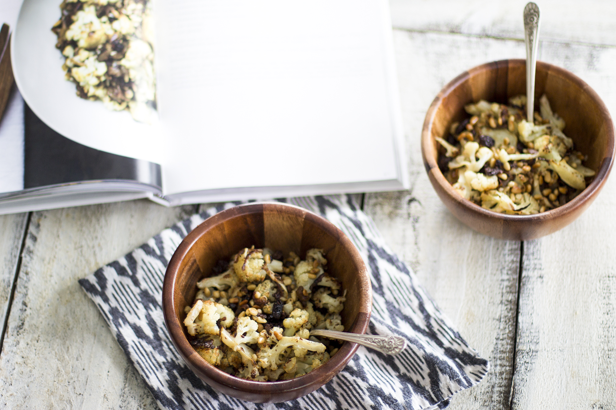Warm Cauliflower Salad from Five Seasons: My Diary of Us