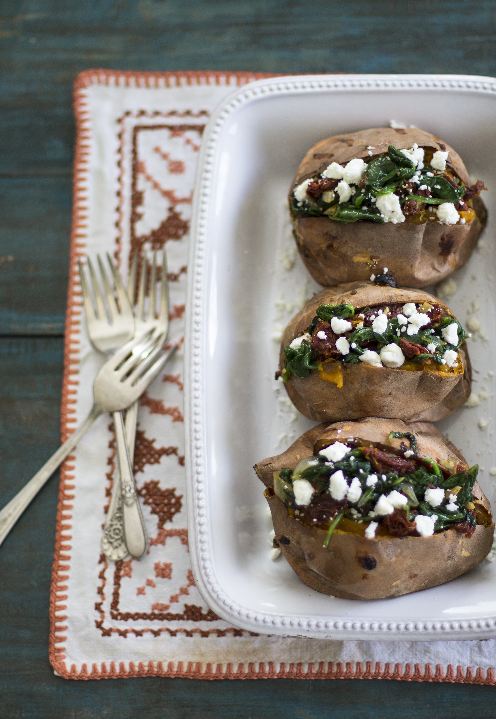 Spinach, Sun-Dried Tomatoes, and Goat Cheese Stuffed Sweet Potatoes: My Diary of Us