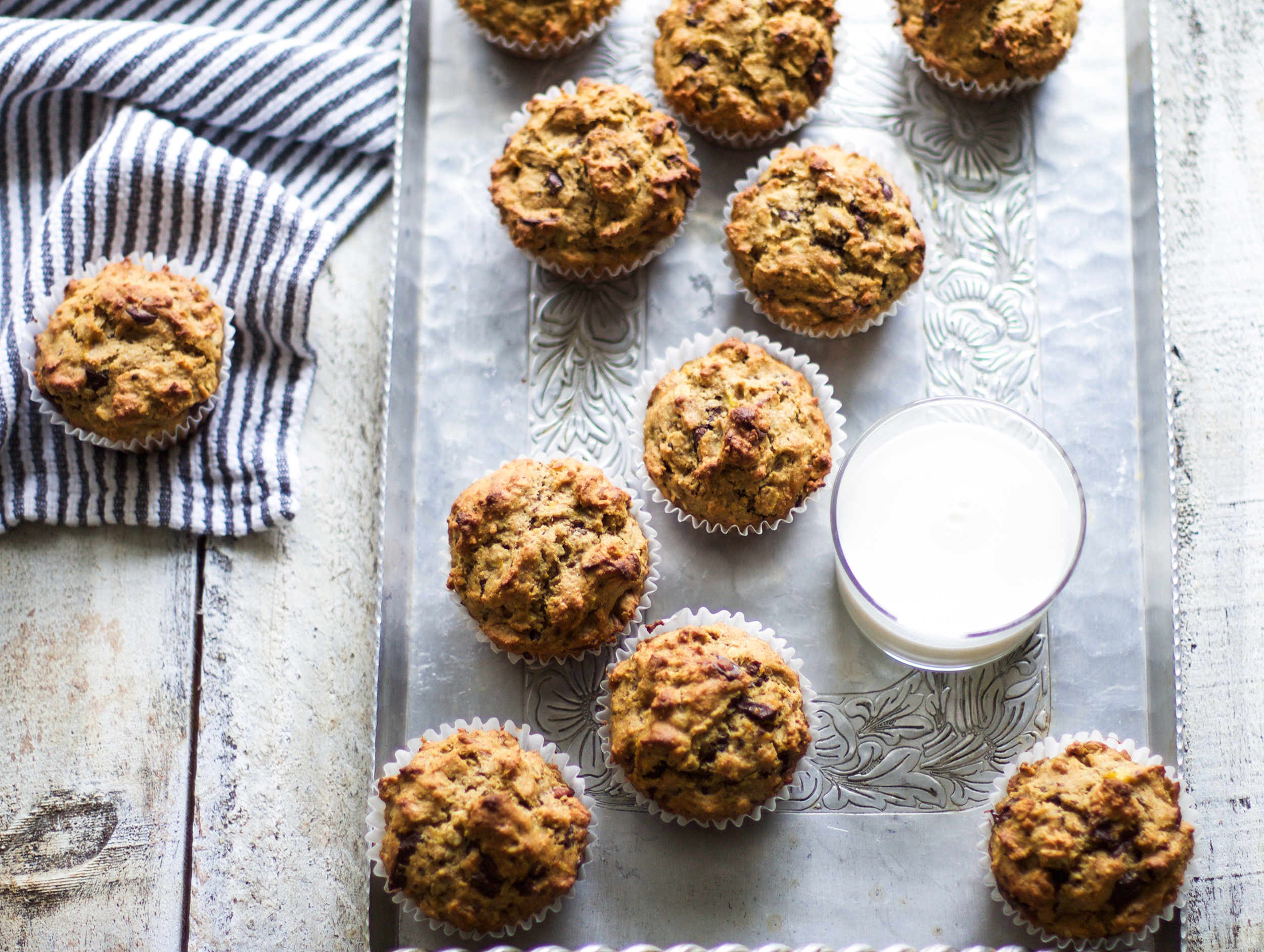 Healthy Chocolate Chip Pecan Muffins: My Diary of UsHealthy Chocolate Chip Pecan Muffins: My Diary of Us