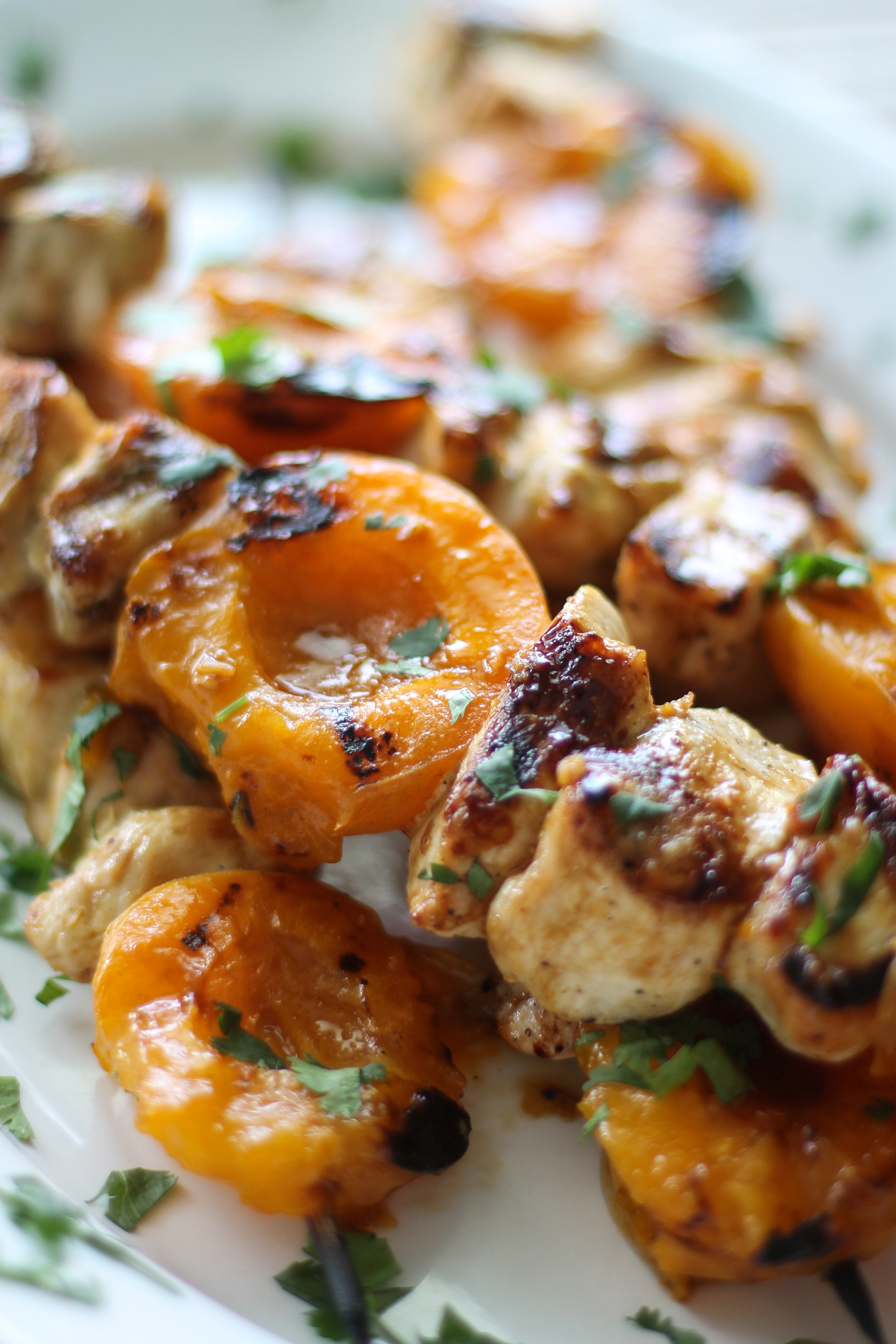 grilled apricot and chicken skewers: My Diary of Us