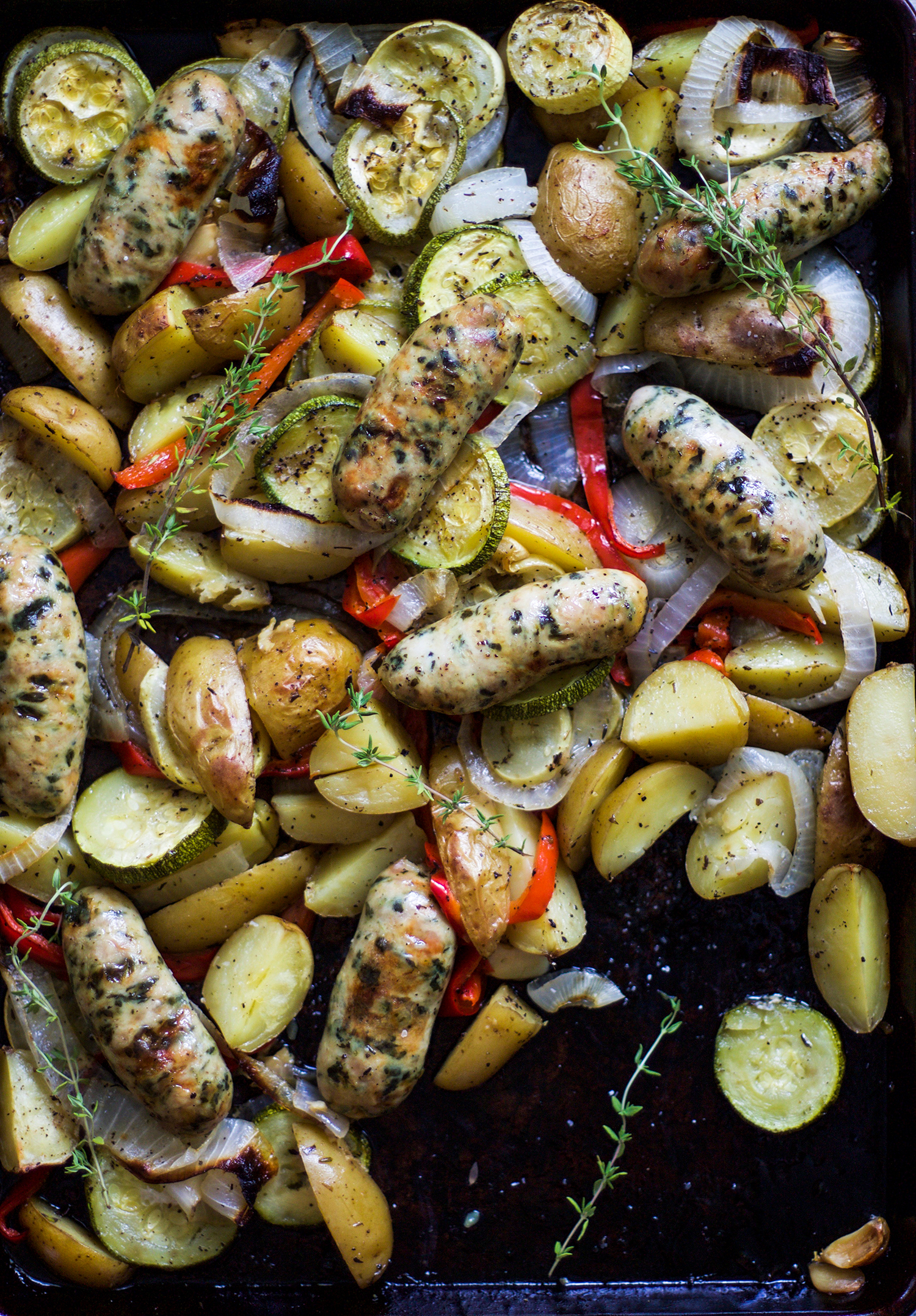 One Pan Roasted Chicken Sausage and Veggies: My Diary of Us
