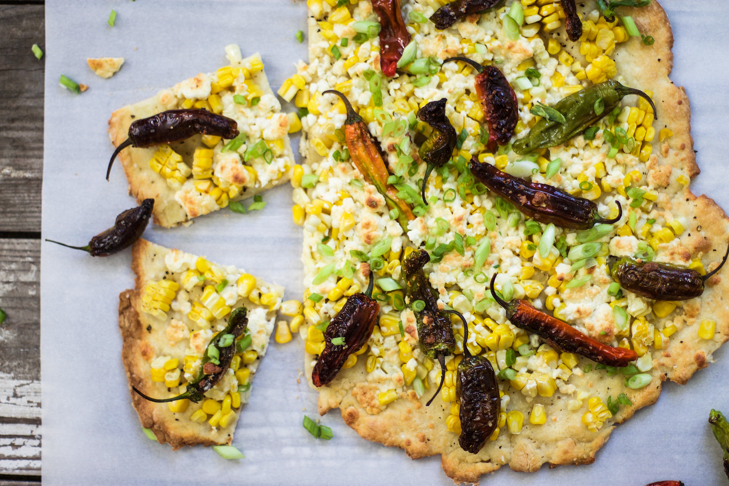 Easy Corn and Shishito Pepper Pizza: My Diary of Us