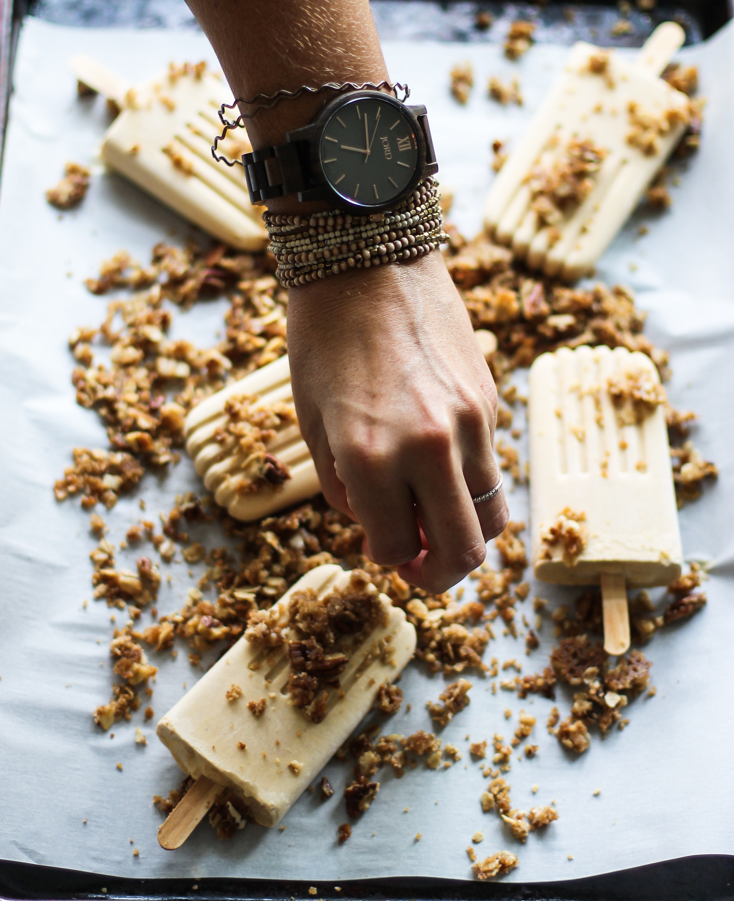 Pumpkin Pie Crumble Popsicles: My Diary of Us