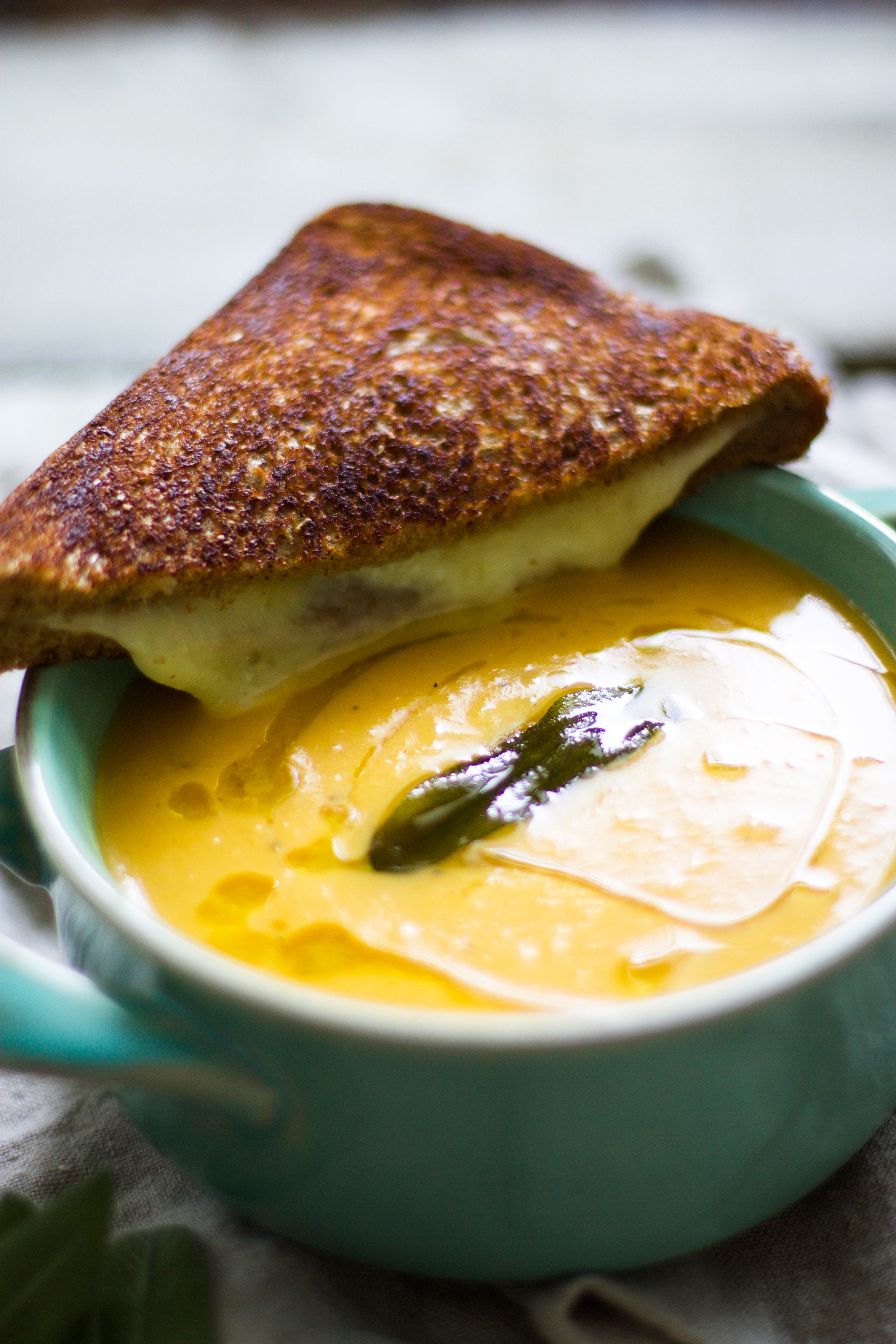 Roasted Butternut Squash and Apple Soup with Sage Oil: My Diary of Us