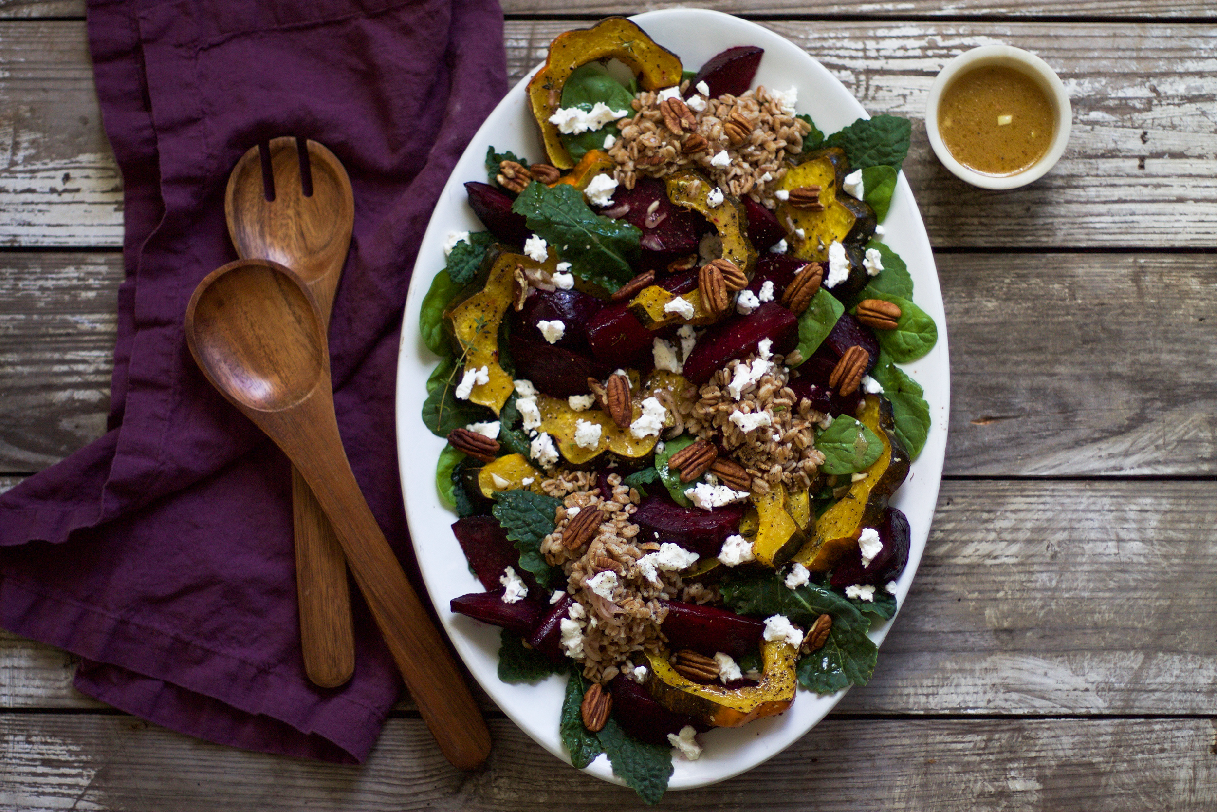 Roasted Beet and Acorn Squash Autumn Salad: My Diary of Us
