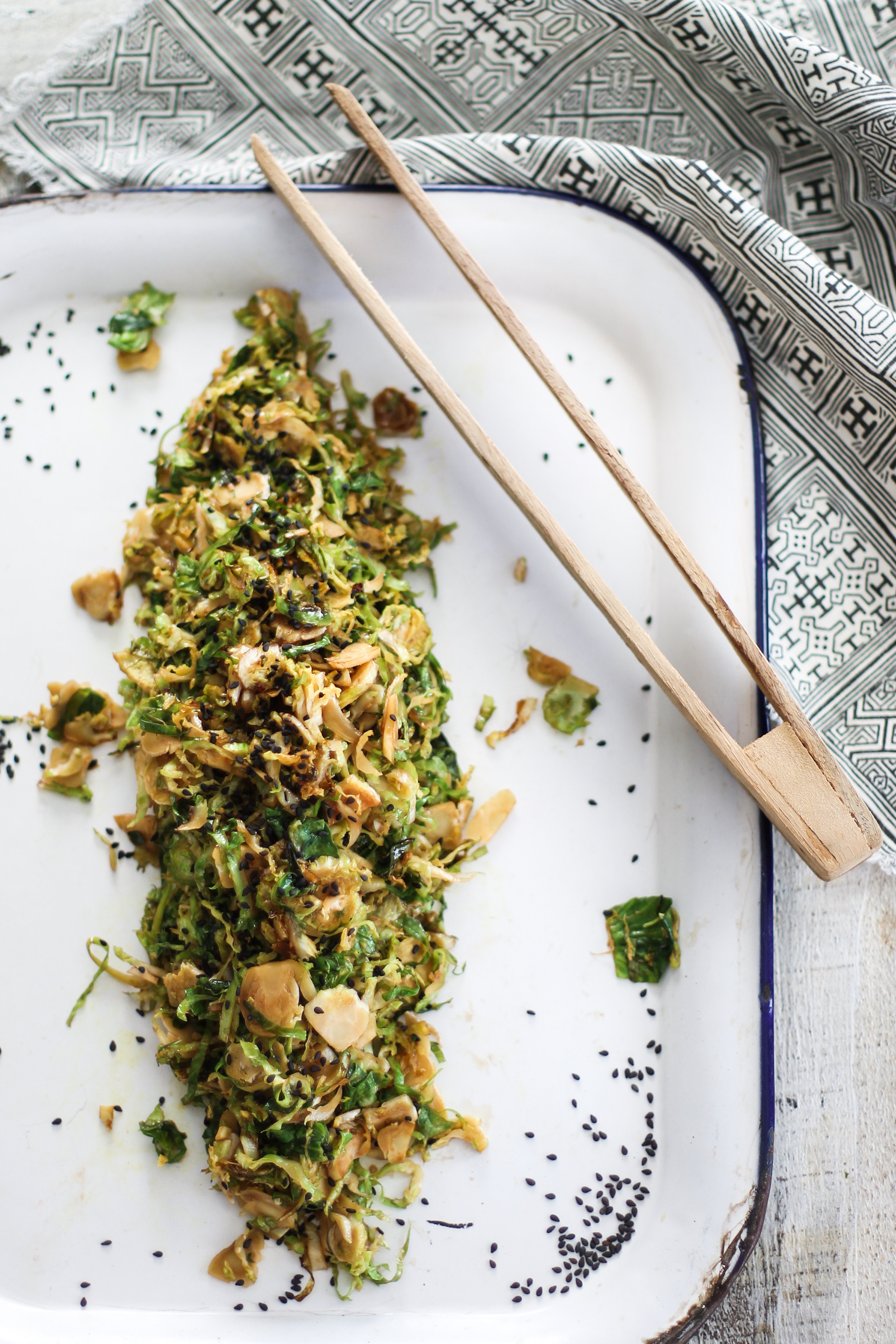 10-Minute Shaved Asian Brussel Sprouts: My Diary of Us