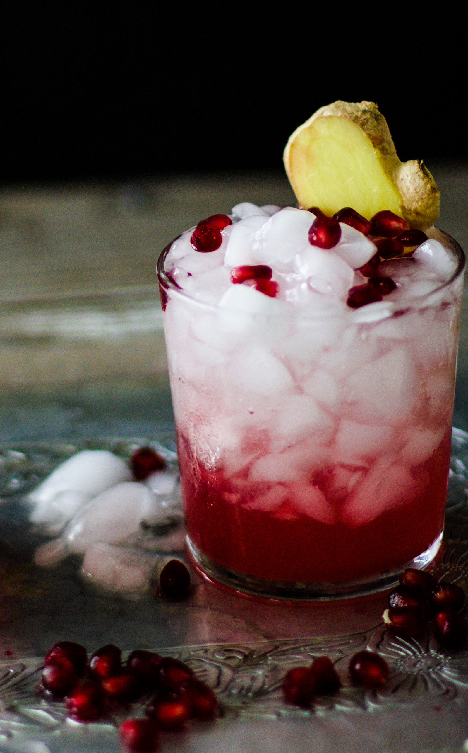Pomegranate Ginger Champagne Sparkler: My Diary of Us