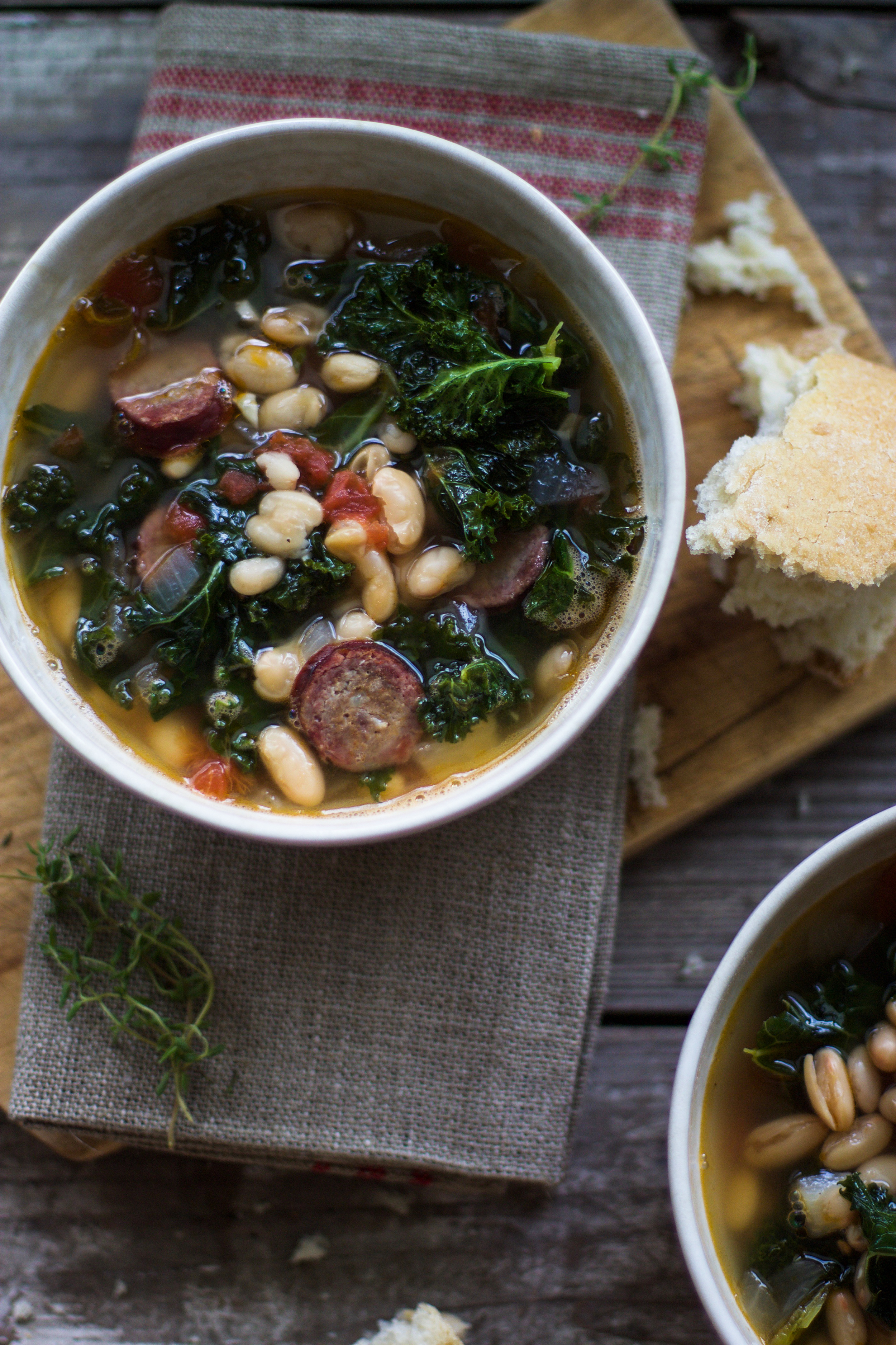 Easy White Bean, Smoked Sausage, and Kale Soup: My Diary of Us