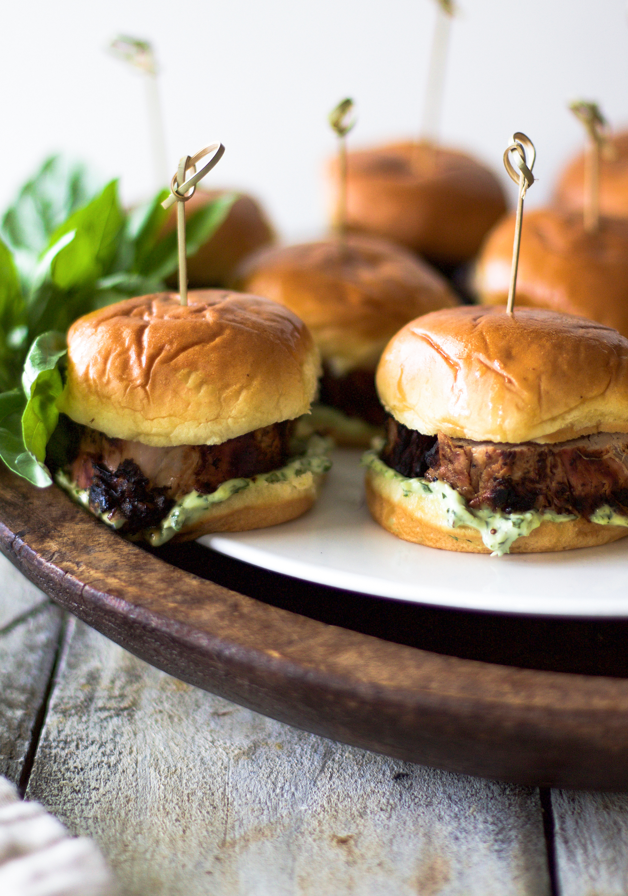 Easy Grilled Pork Tenderloin Slides with Basil Aioli: My Diary of Us