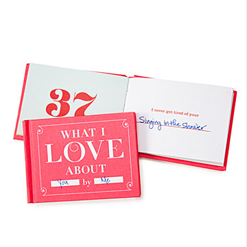 What I Love About You Book at UncommonGoods: My Diary of Us