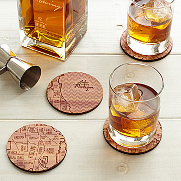 Map Coasters at UncommonGoods: My Diary of Us