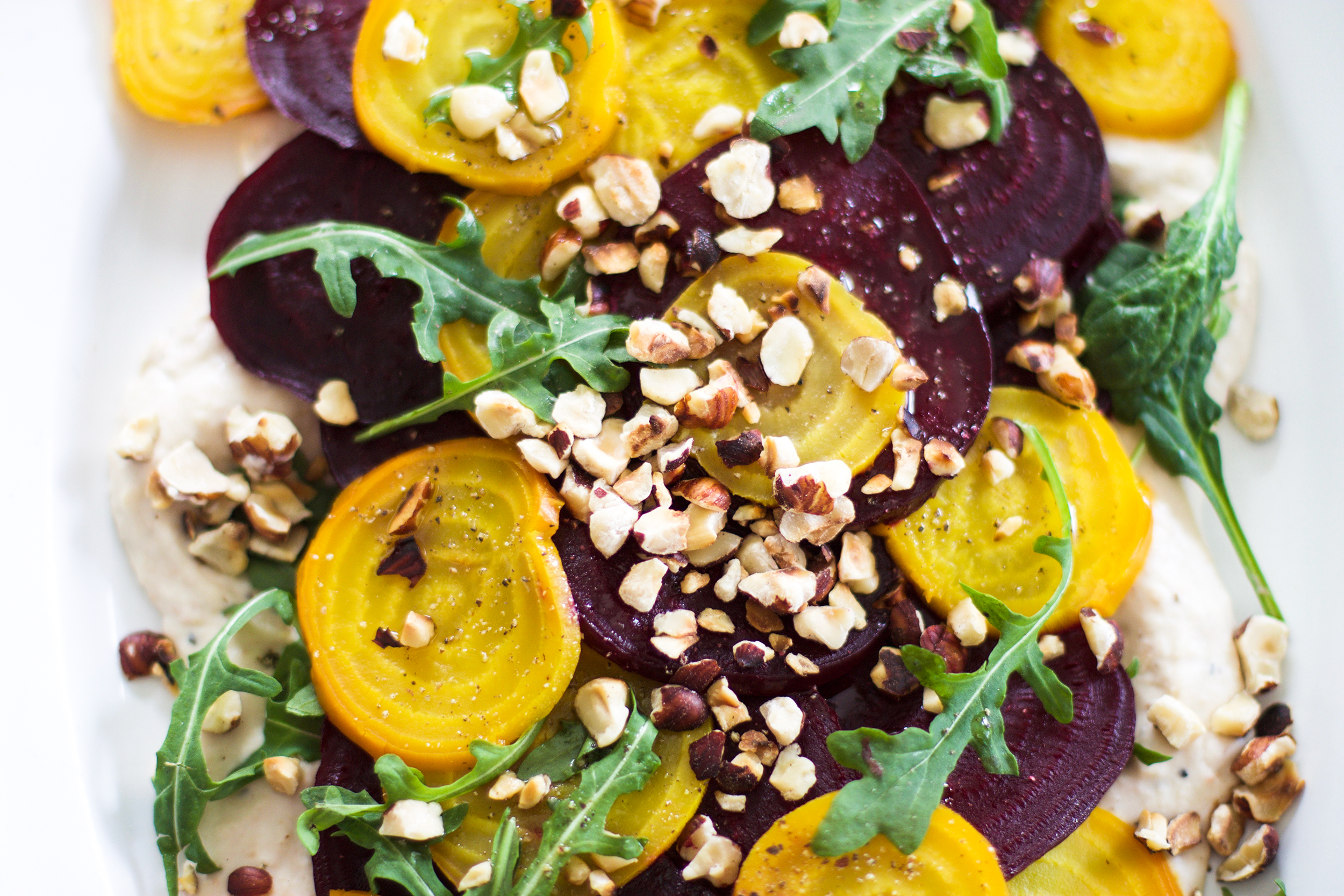 Roasted Beet Salad with Tahini White Beans: My Diary of Us