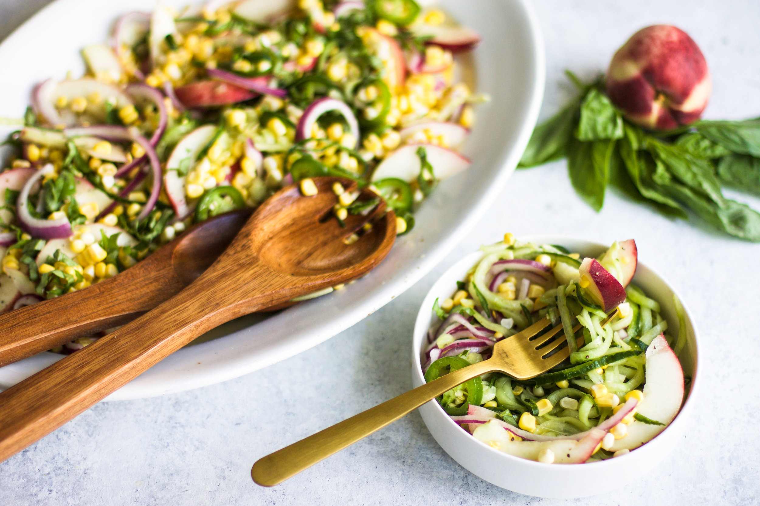 Spicy Peach and Corn Summer Salad: My Diary of Us
