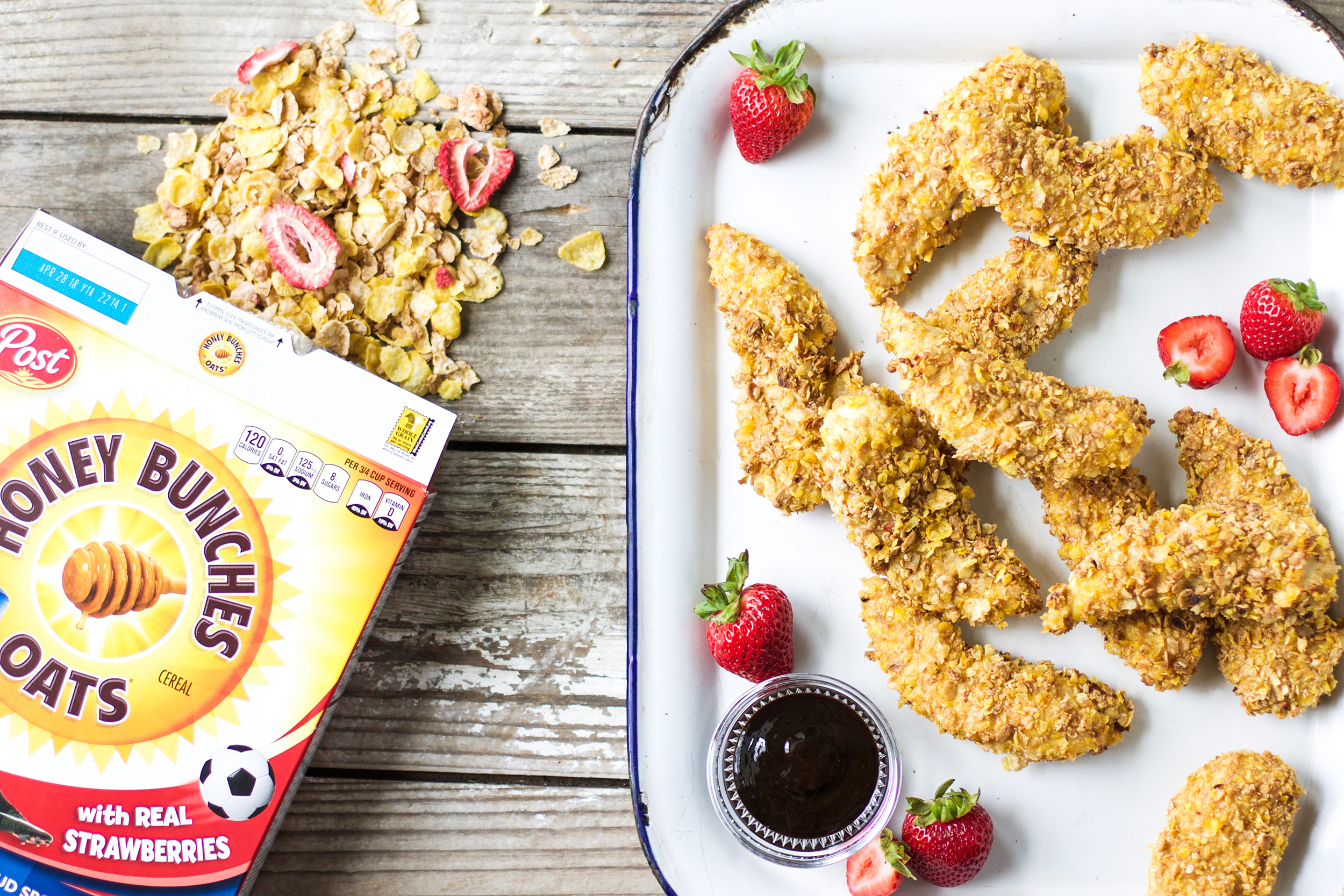 Back-to-School Cereal Crusted Baked Chicken Tenders: My Diary of Us