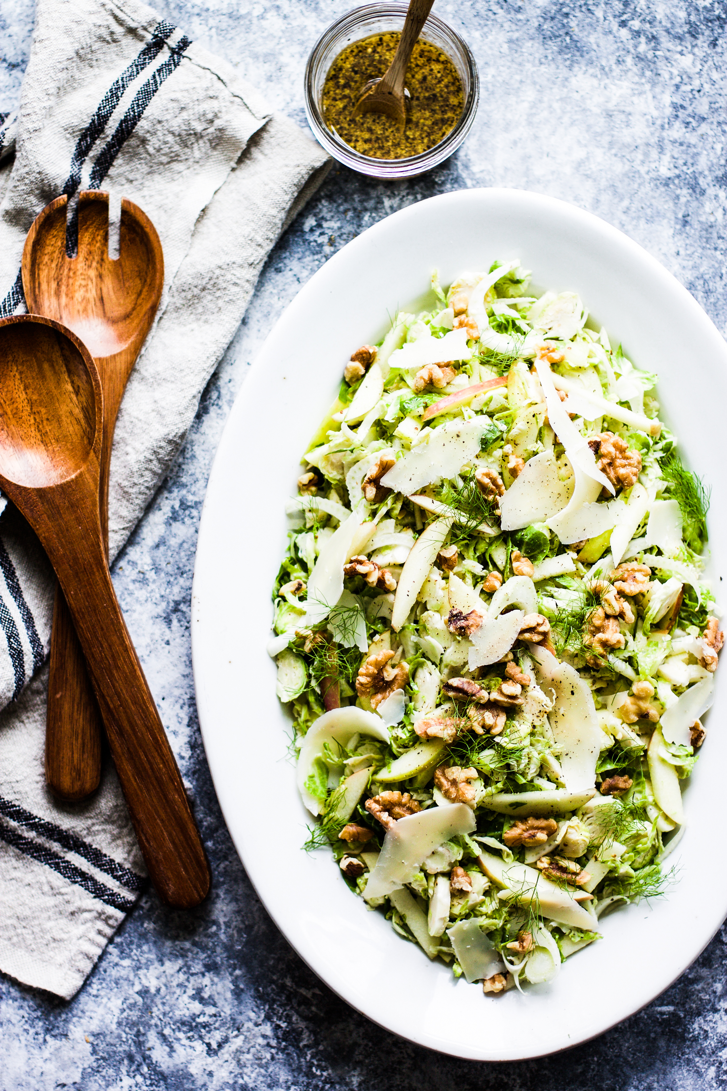 Brussel Sprout, Apple, and Fennel Salad with Toasted Walnuts and Parmesan: My Diary of Us
