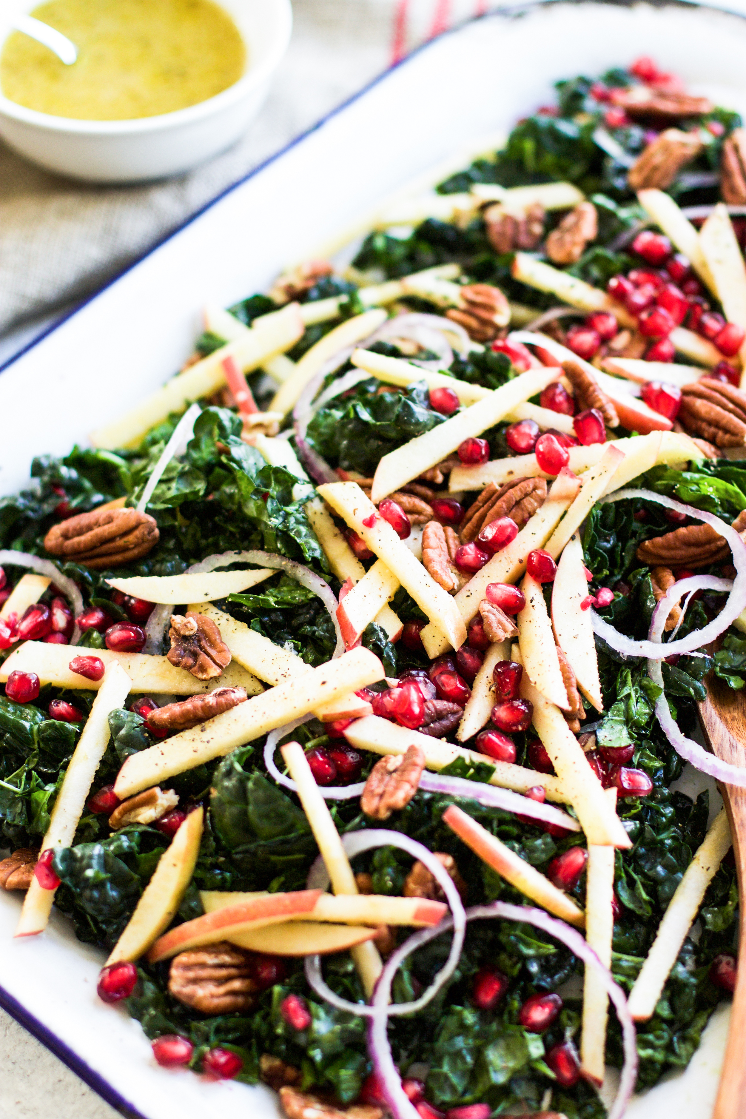 Apple, Kale, and Pomegranate Salad with Apple Cider Vinaigrette: My Diary of Us
