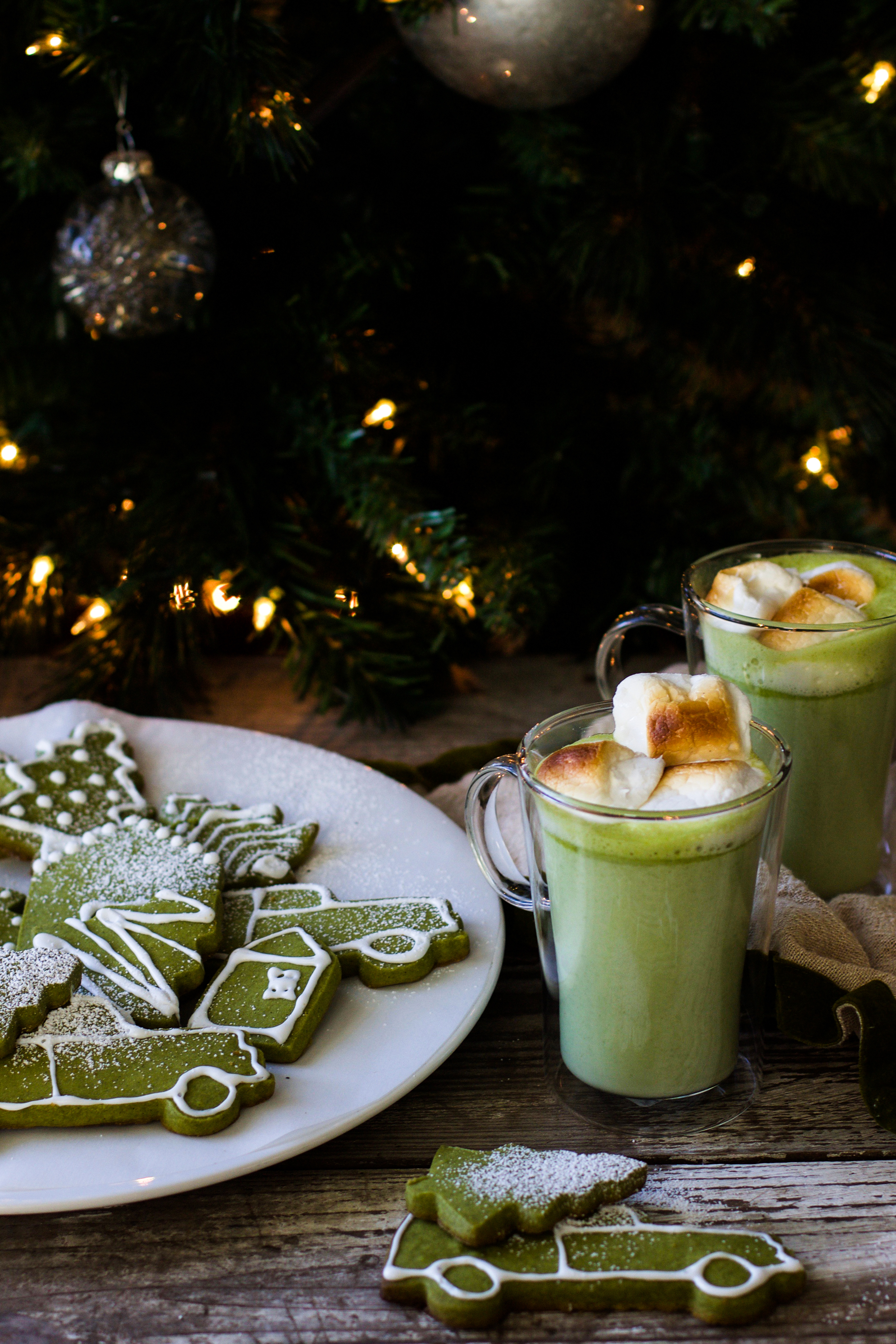 Matcha Vanilla Bean Shortbread Cookies + A Boozy Matcha White Hot Chocolate: My Diary of Us