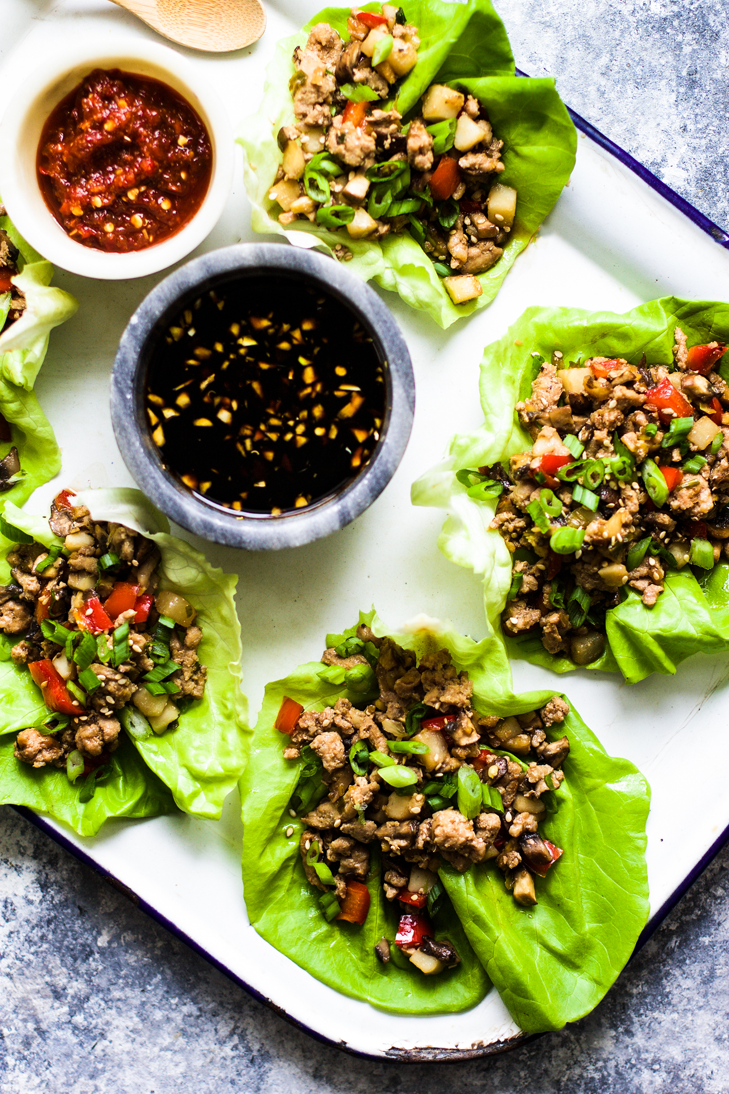 Asian Chicken Lettuce Wraps:  My Diary of Us