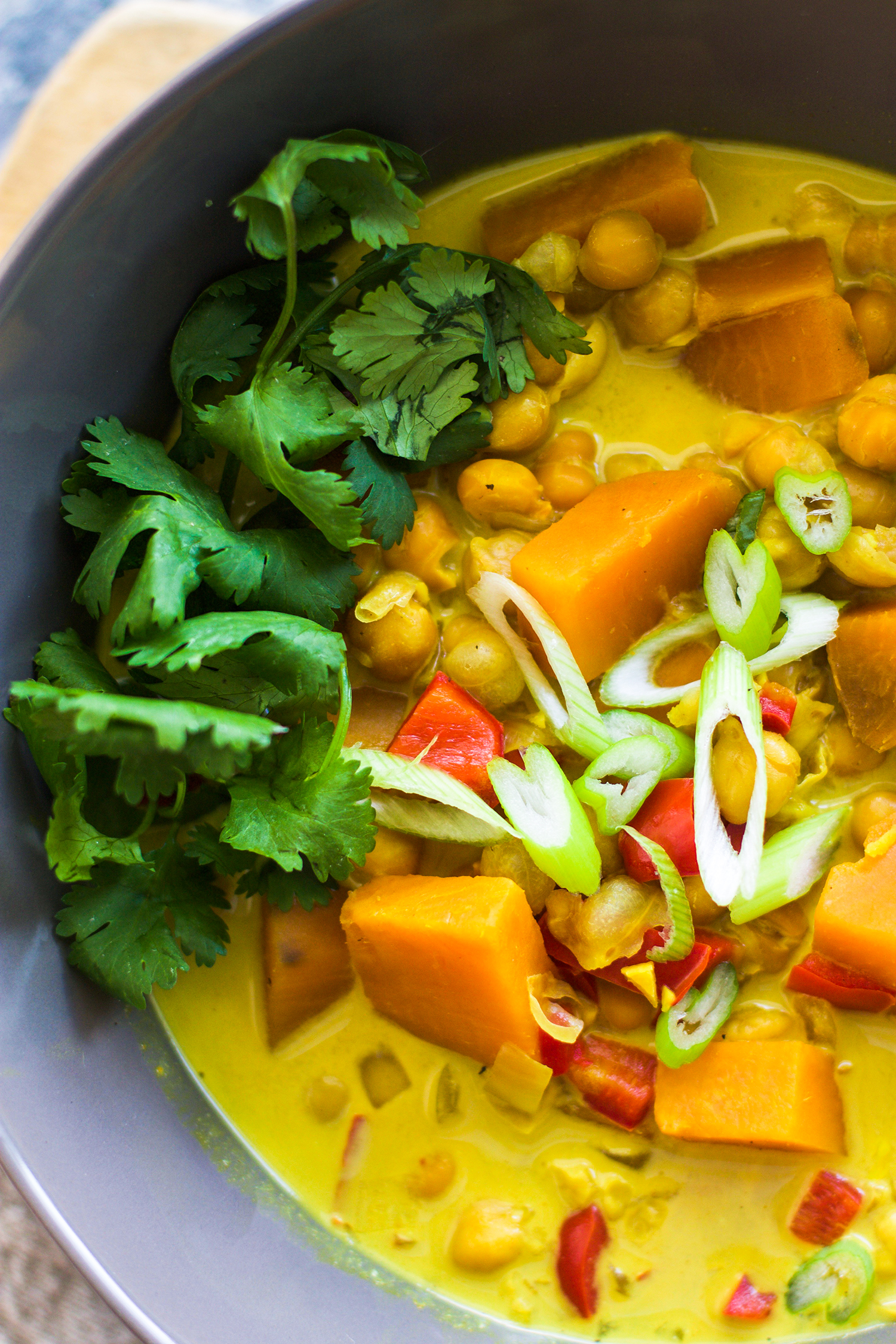 Sweet Potato and Chickpea Curry Soup: My Diary of Us