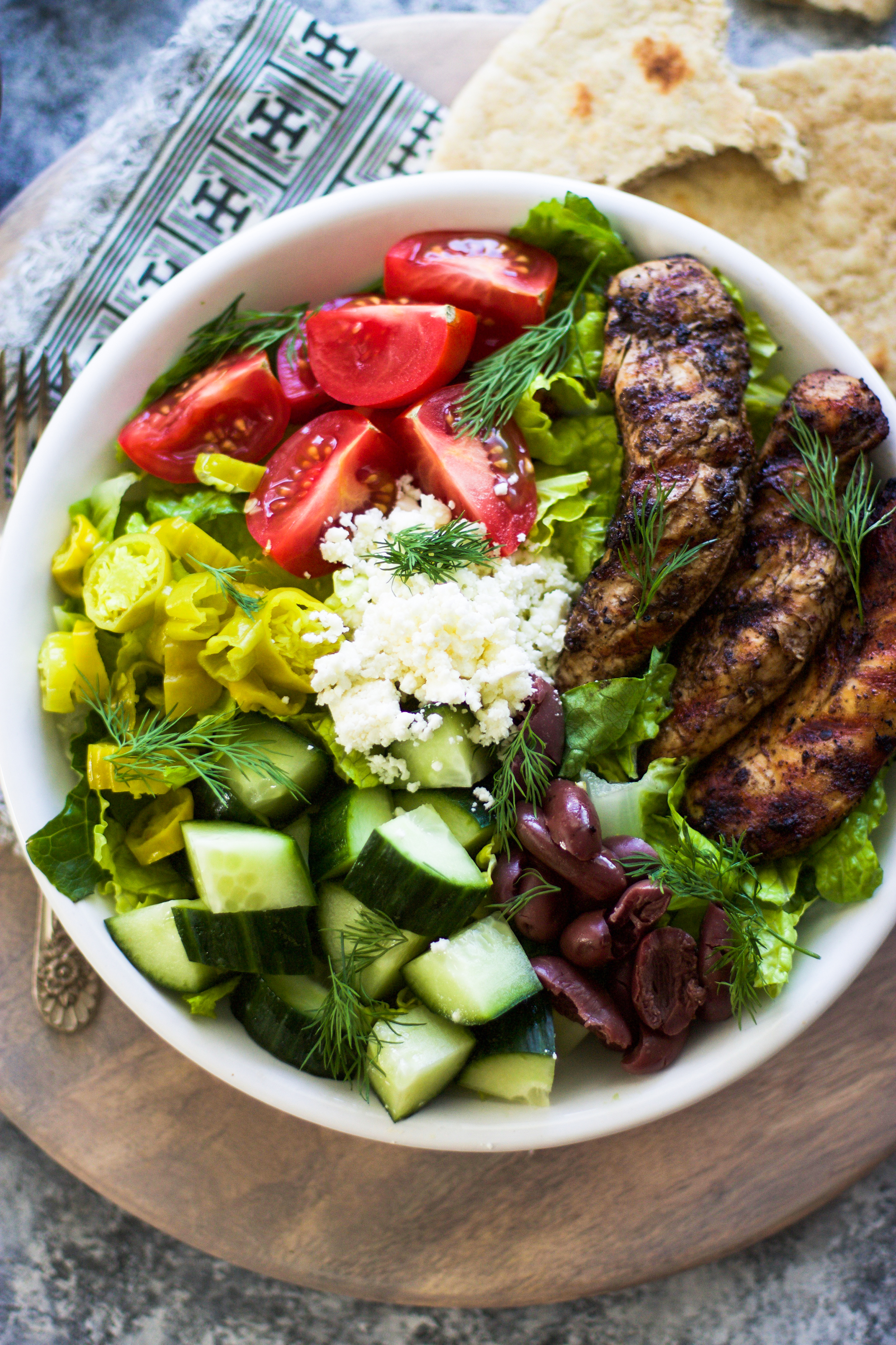 Grilled Greek Chicken Salad: My Diary of Us