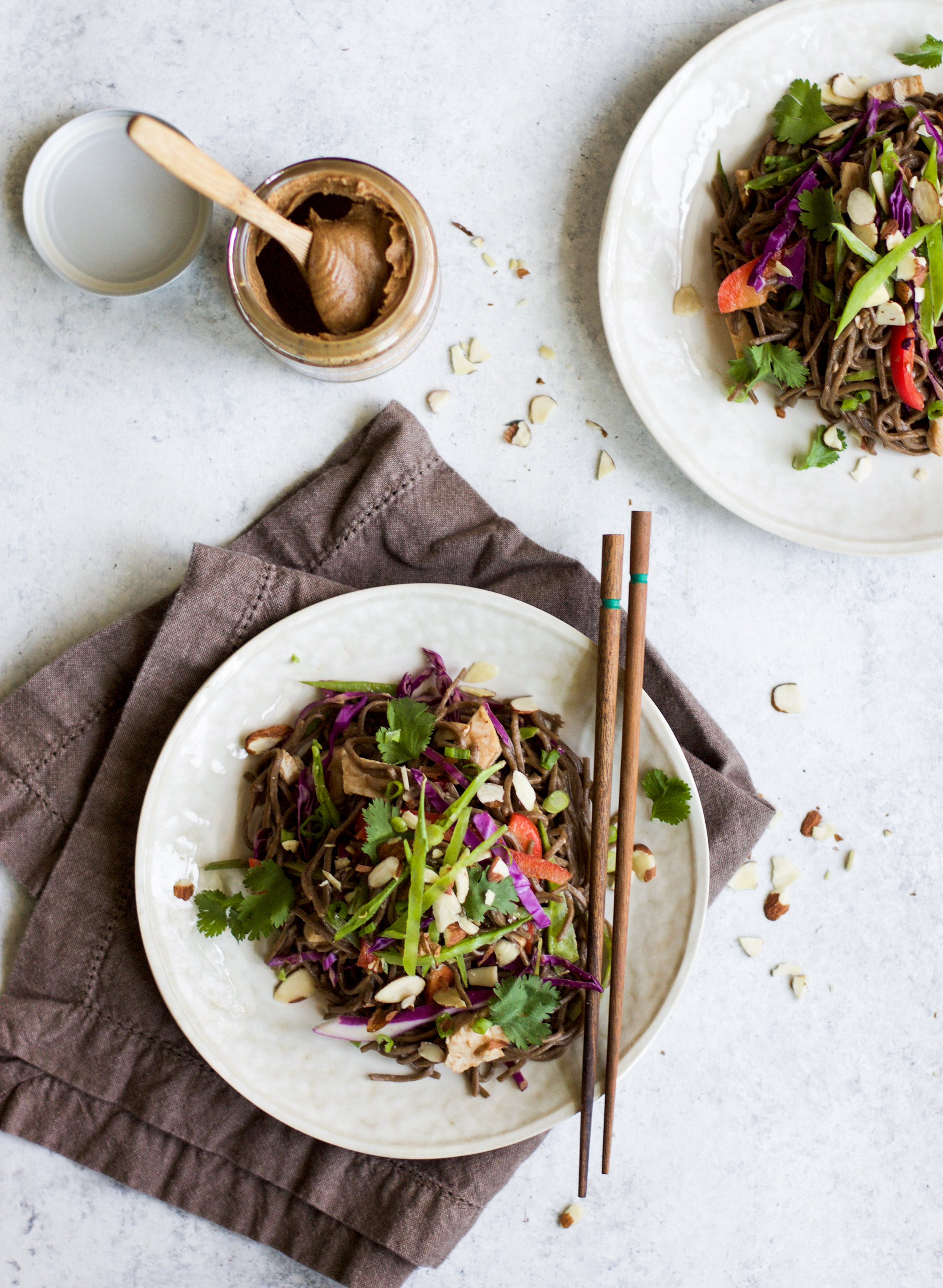 Almond Butter Asian Chicken and Veggie Soba Noodle Salad: My Diary of Us